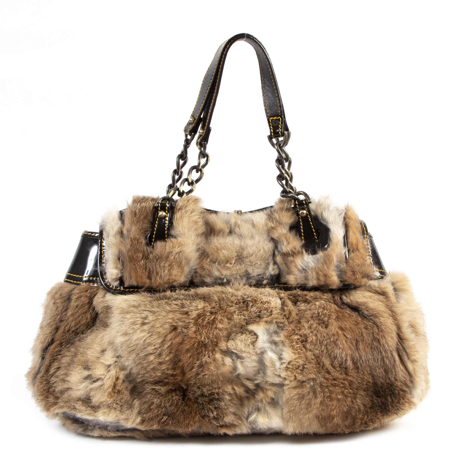 Designer vintage authentic Fendi Fur B Bag for sale online