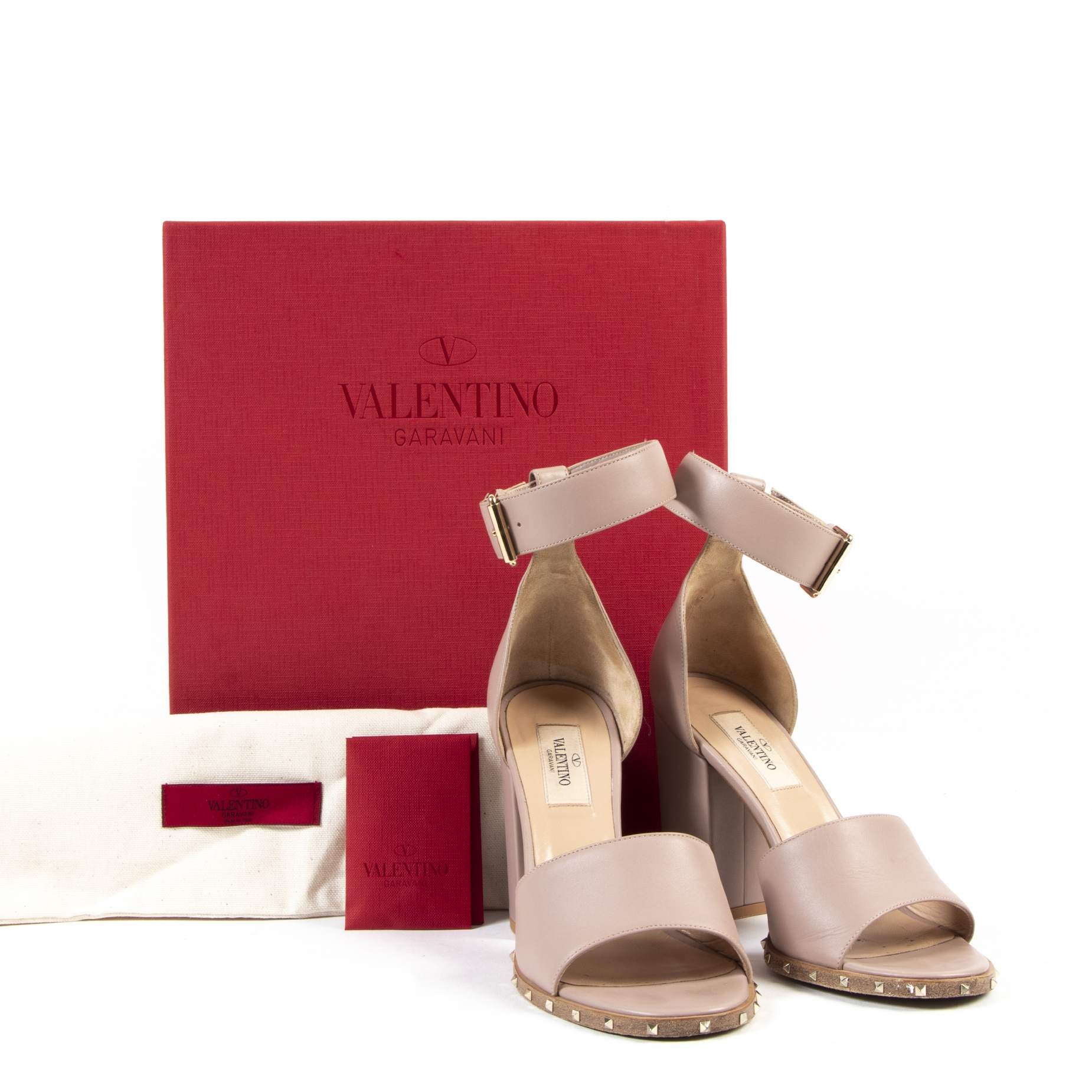 Valentino Garavani Poudre Block Heel Sandals complete with box availale now
