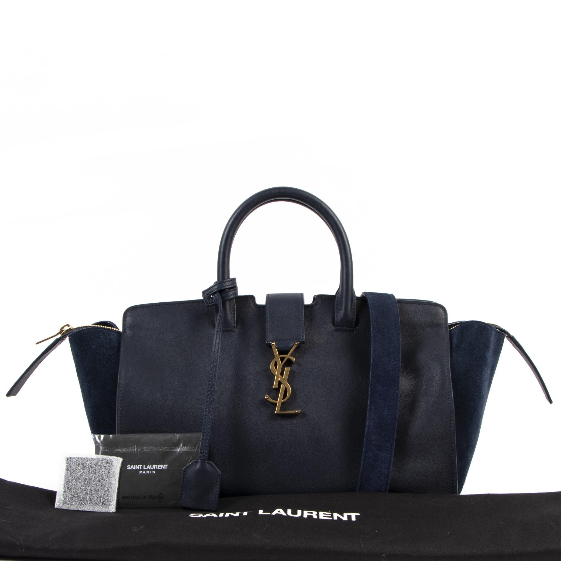 Koop en verkoop uw authentieke designer  Saint Laurent Small Blue Downtown Cabas aan de beste prijs