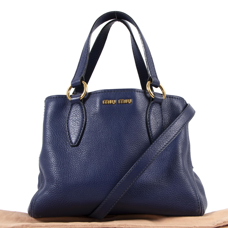 Miu Miu Cobalt Blue Covertible Shoulder Bag kopen en verkopen aan de beste prijs