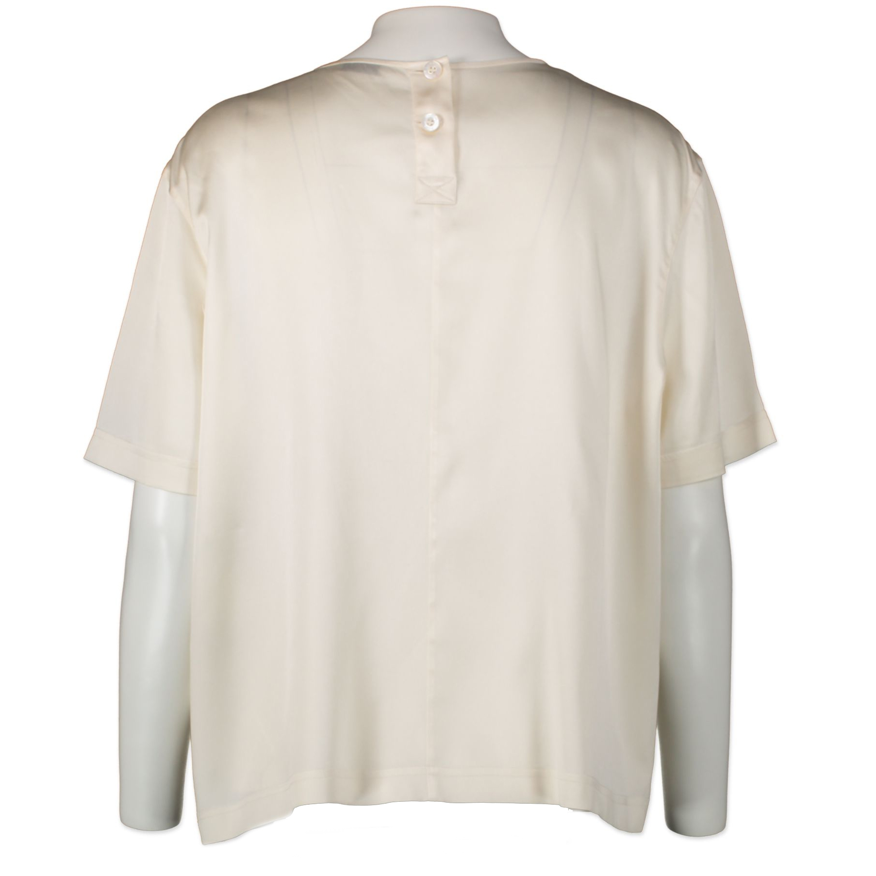 Chanel Cream Silk Shirt - size 36 - buy and sell your favourite designer items online