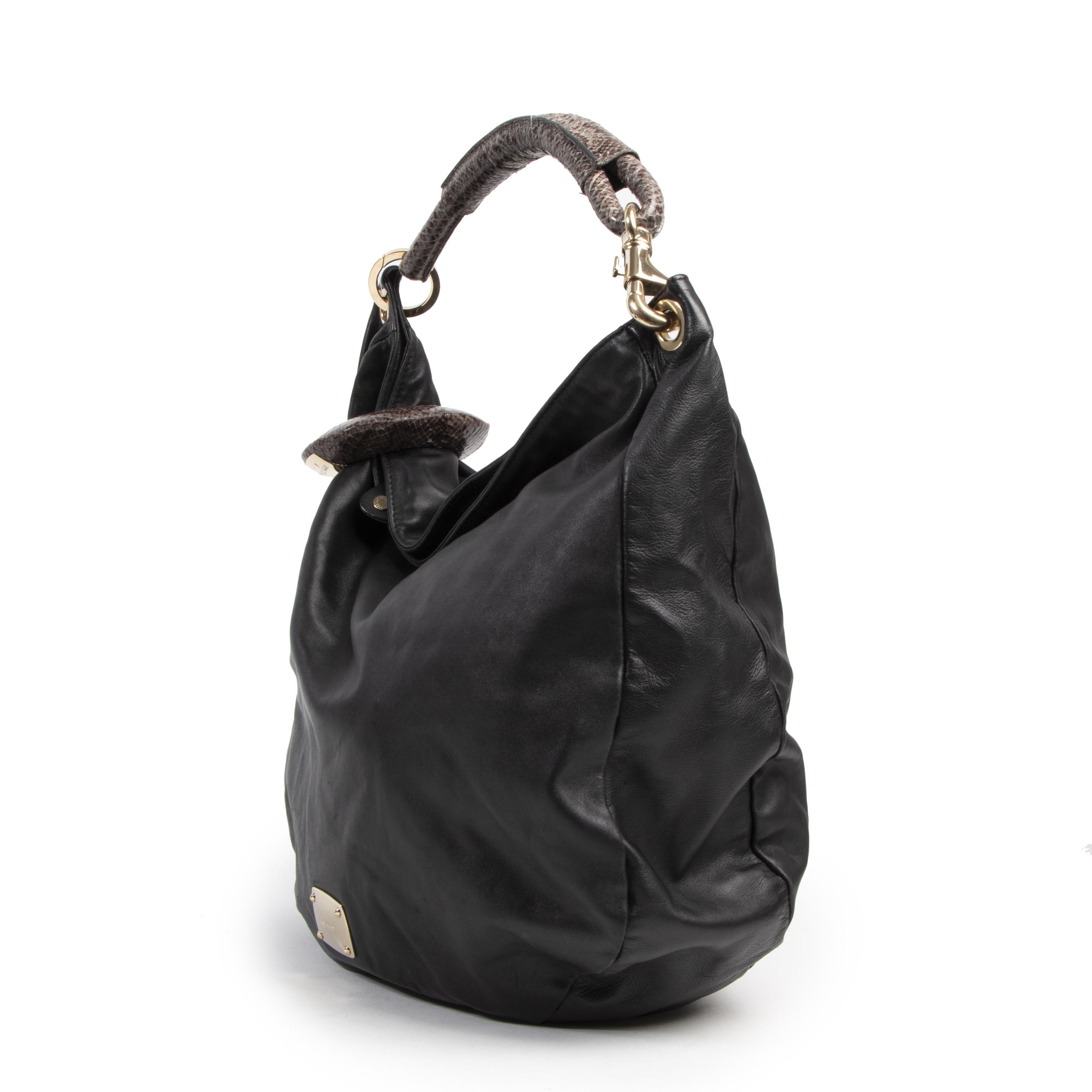 Jimmy Choo Black Hobo Bag schoudertas van Italiaanse design makelij aan de beste prijs bij Labellov tweedehands