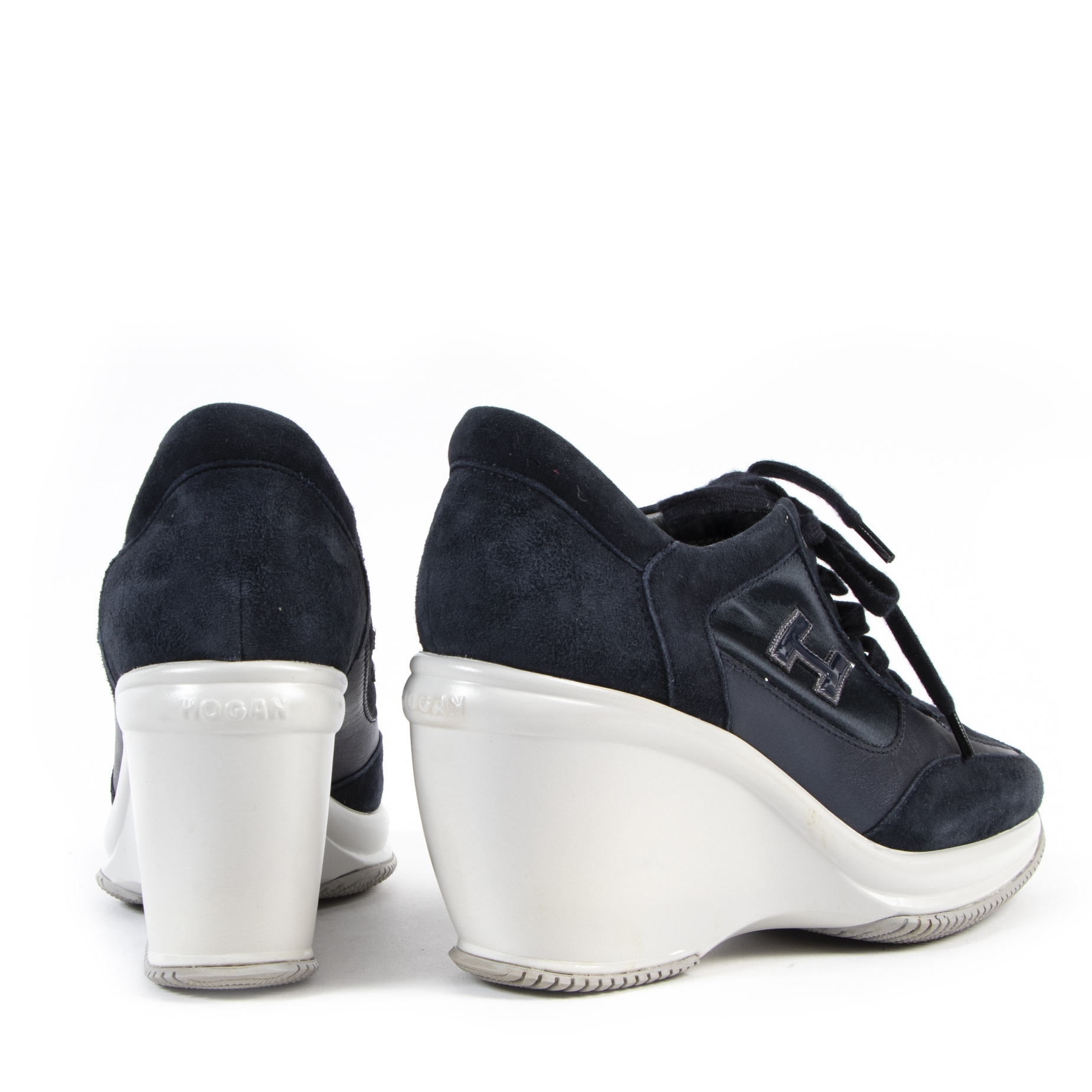 shop safe online Hogan Blue Wedge Sneakers - size 38,5