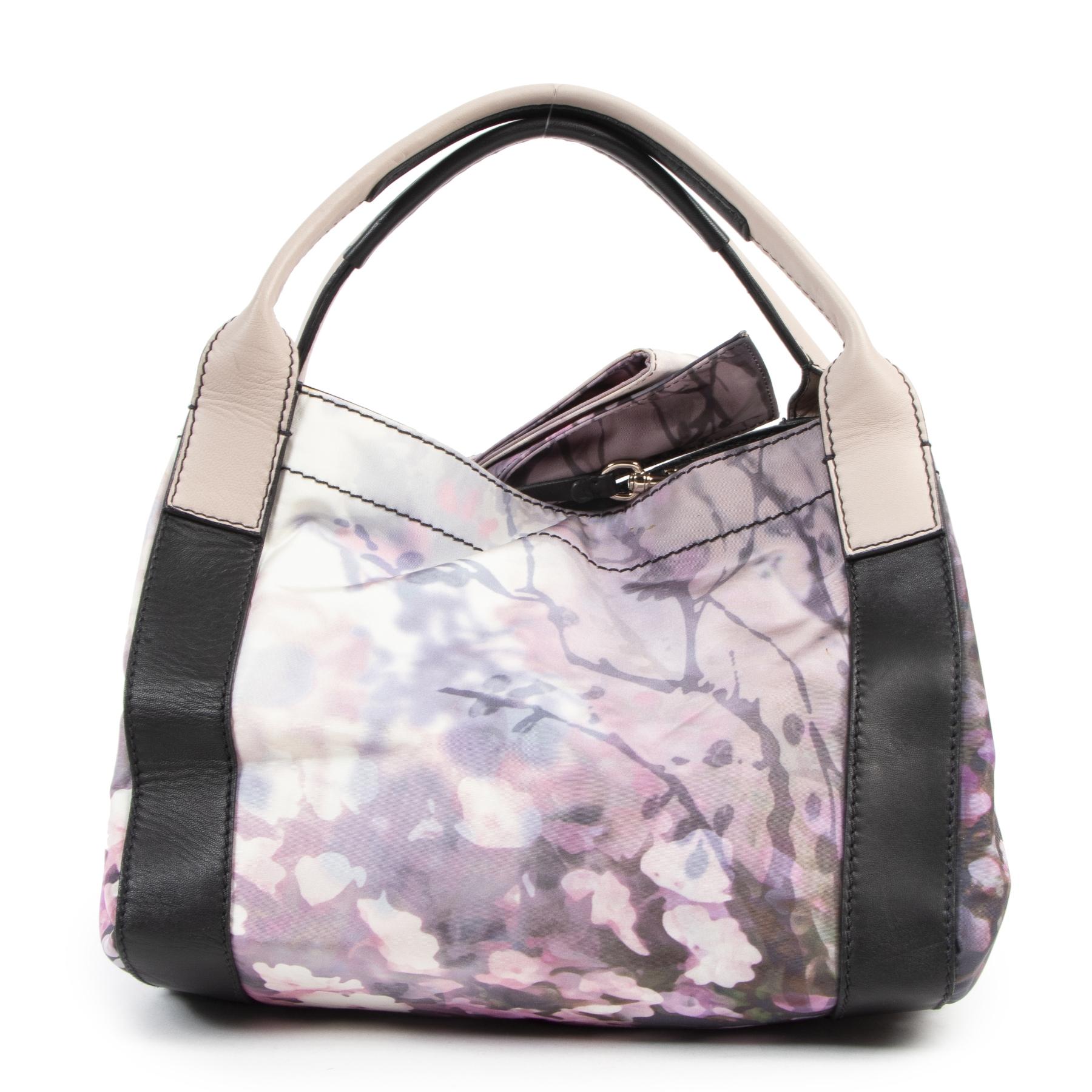 Valentino Floral Printed Tessuto Medium Nylon Tote