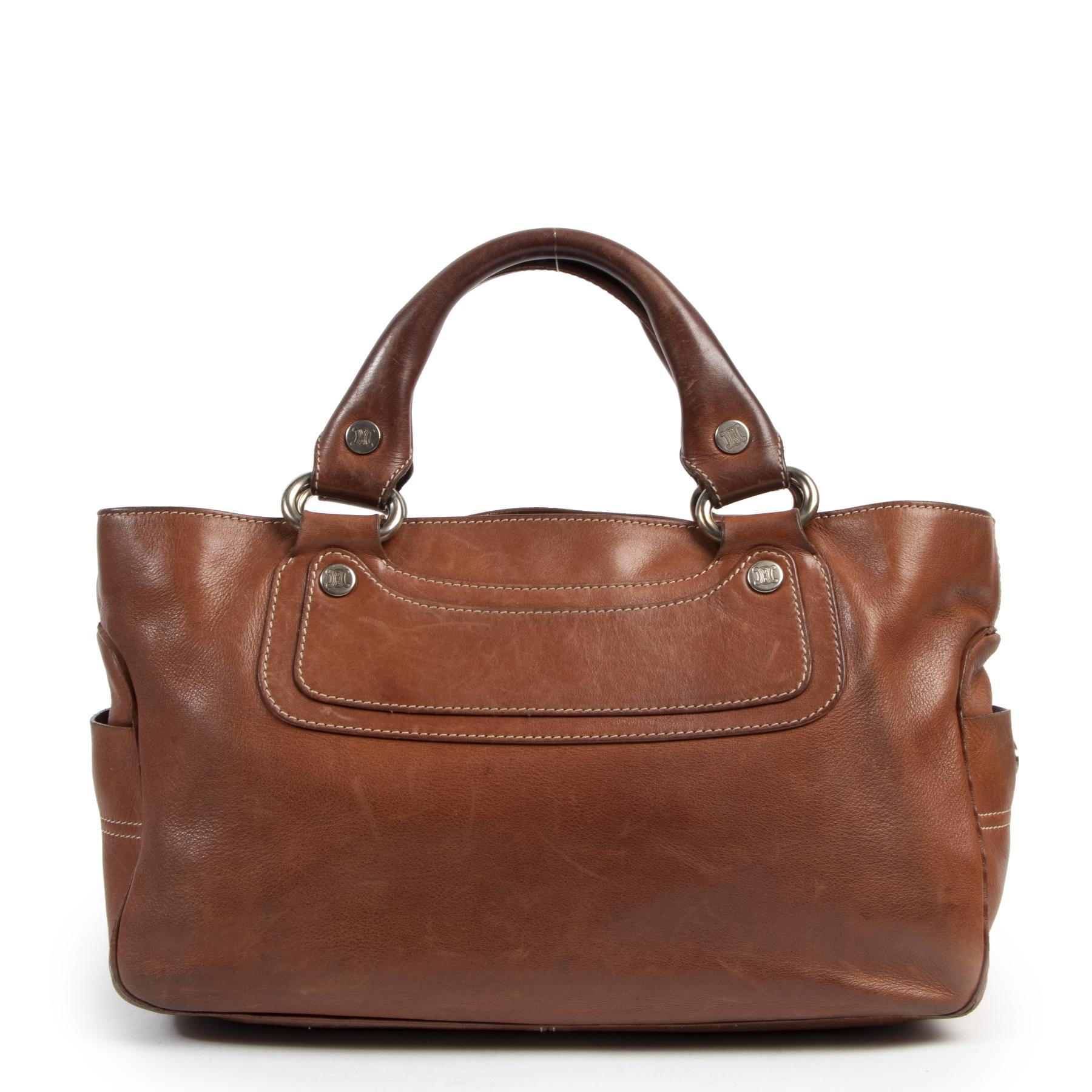 shop safe online Céline Cognac Boogie Bag