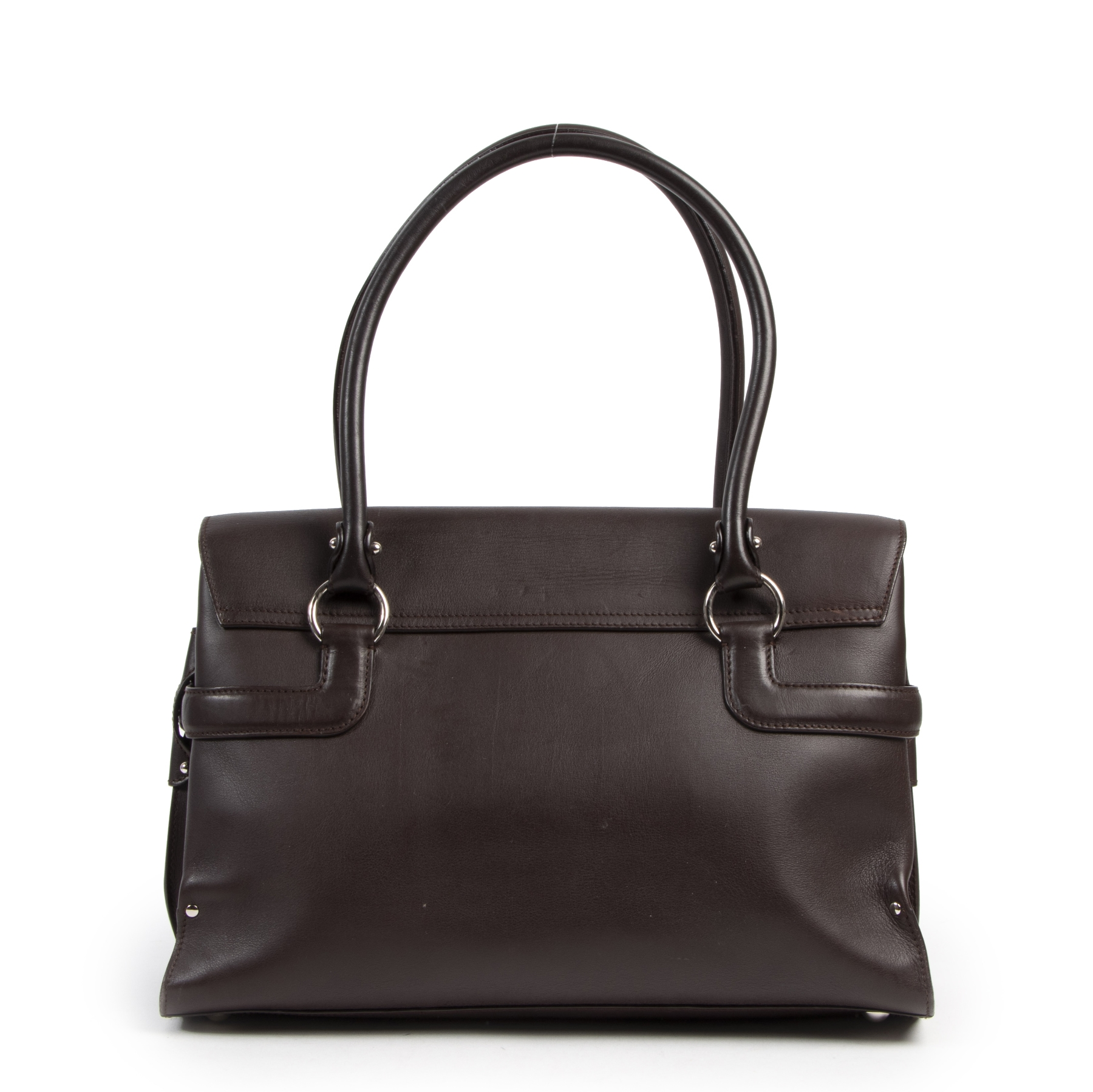 Salvatore Ferragamo Brown Top Handle Bag for the best price at Labellov