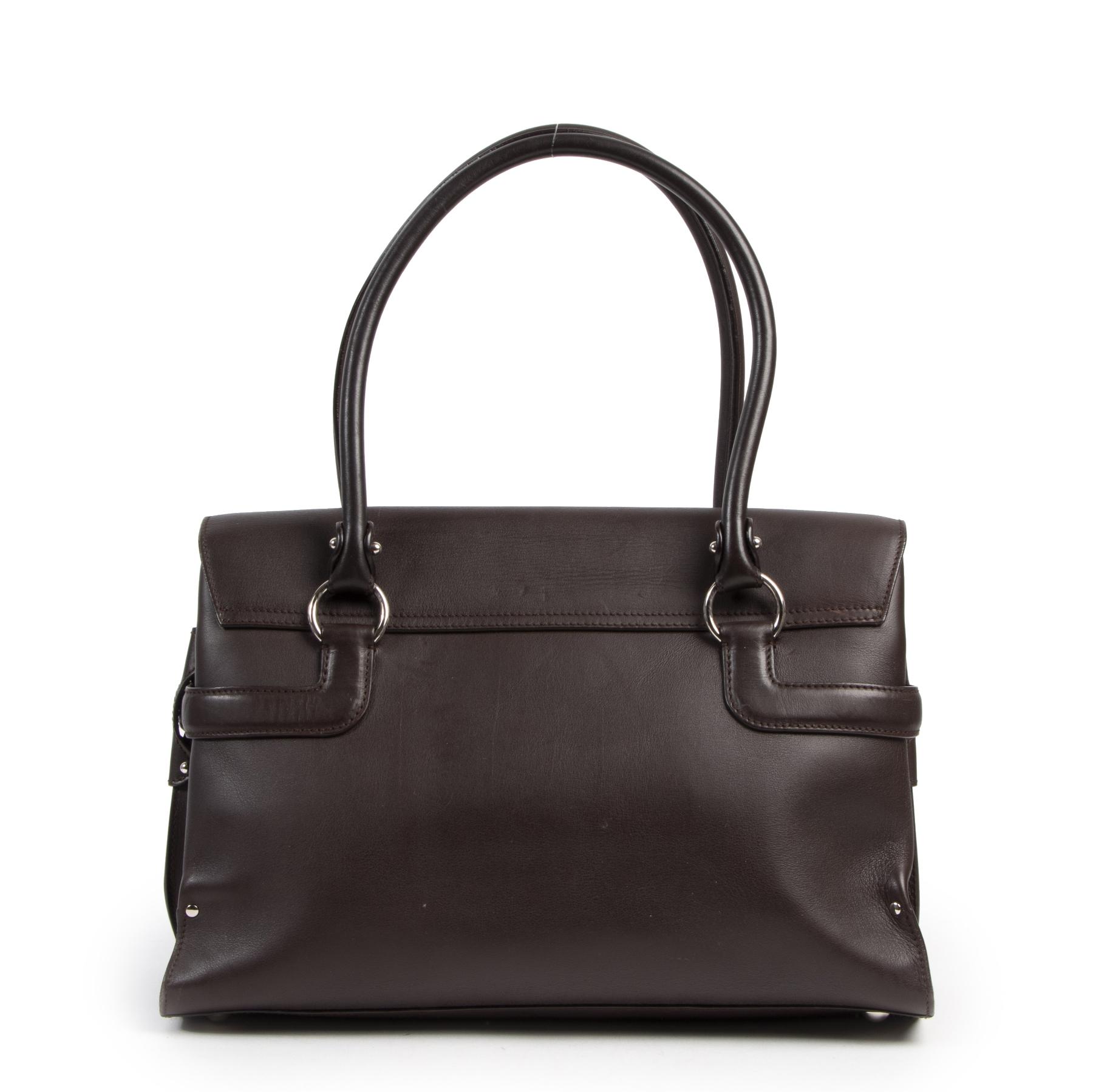 Salvatore Ferragamo Brown Top Handle Bag for the best price at Labellov