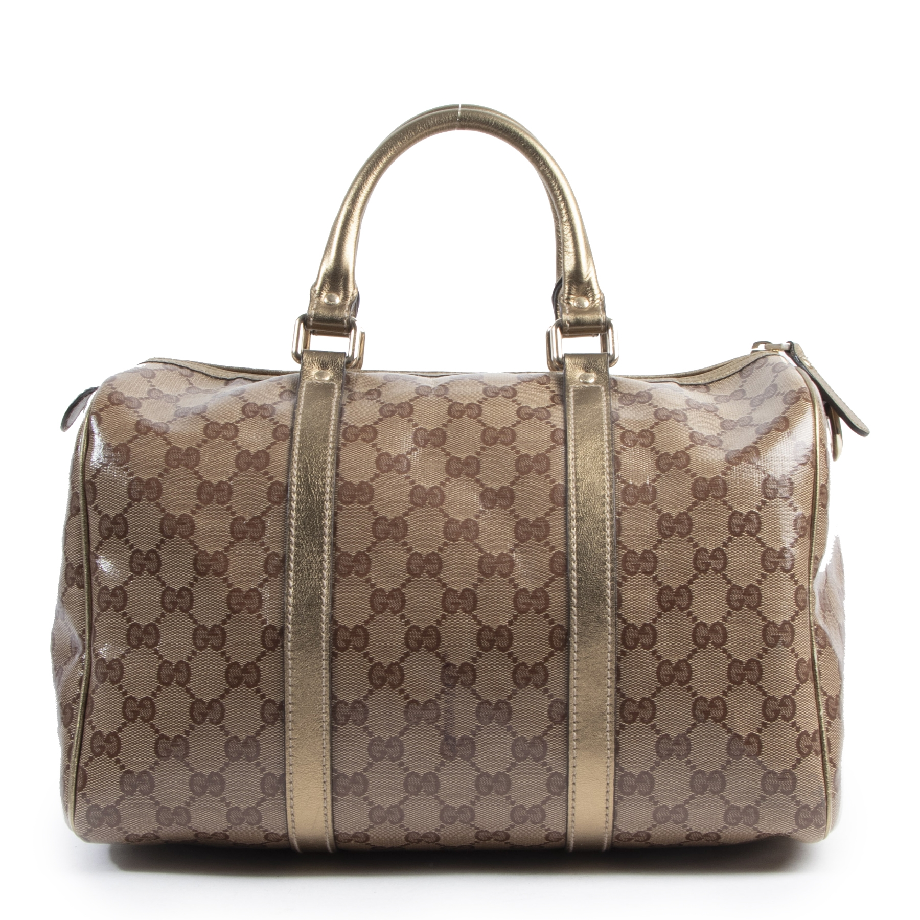 Buy and sell 100% authentic Gucci Metallic Gold Boston Bag