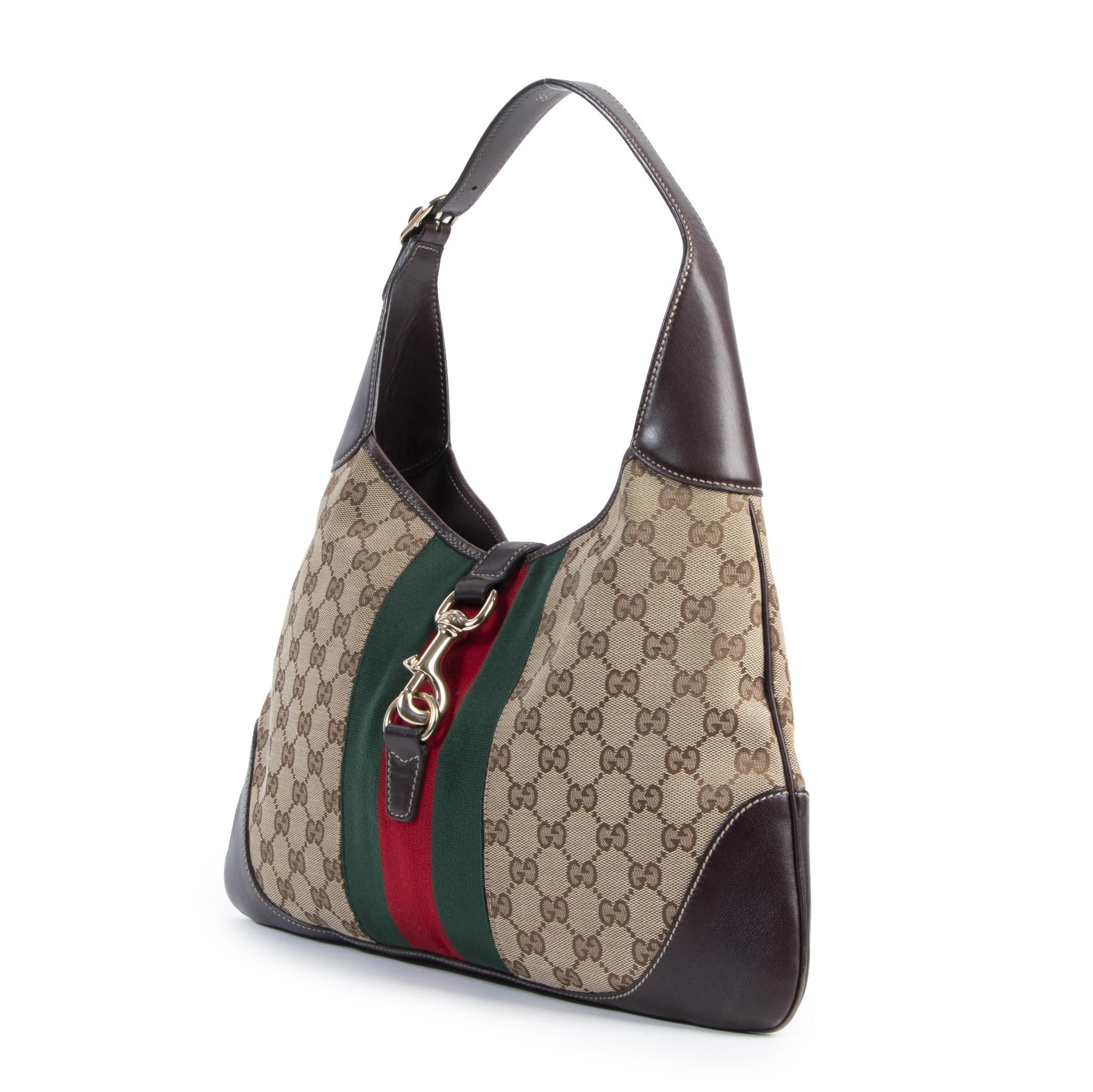Gucci Jackie Original GG Canvas Shoulder Bag kopen en verkopen bij Labellov luxe vintage designer