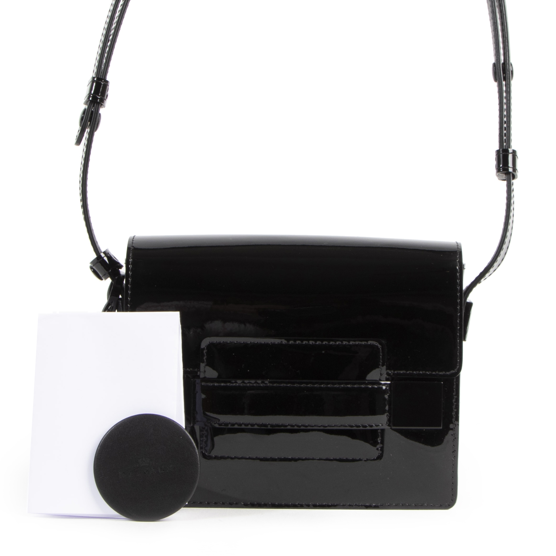 Delvaux Madame Mini Black Vernis