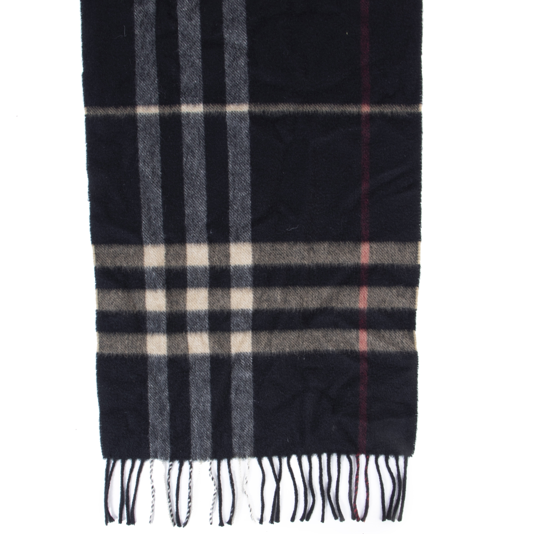 Authentic secondhand Burberry Classic Check Cashmere Scarf designer scarves accessories luxury vintage webshop safe secure online shopping