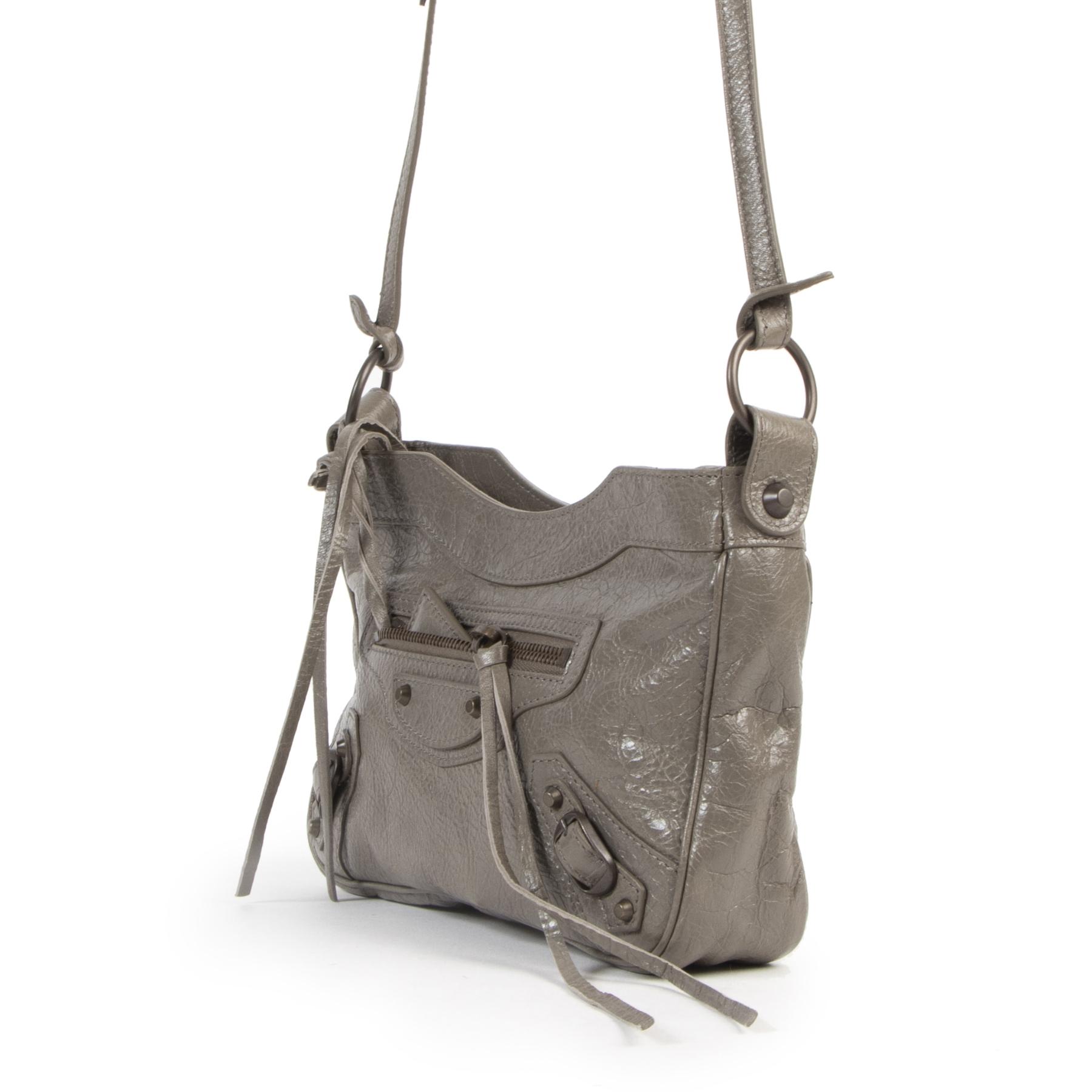 Balenciaga Grey City Hip Mini Crossbody Bag kopen en verkopen aan de beste prijs