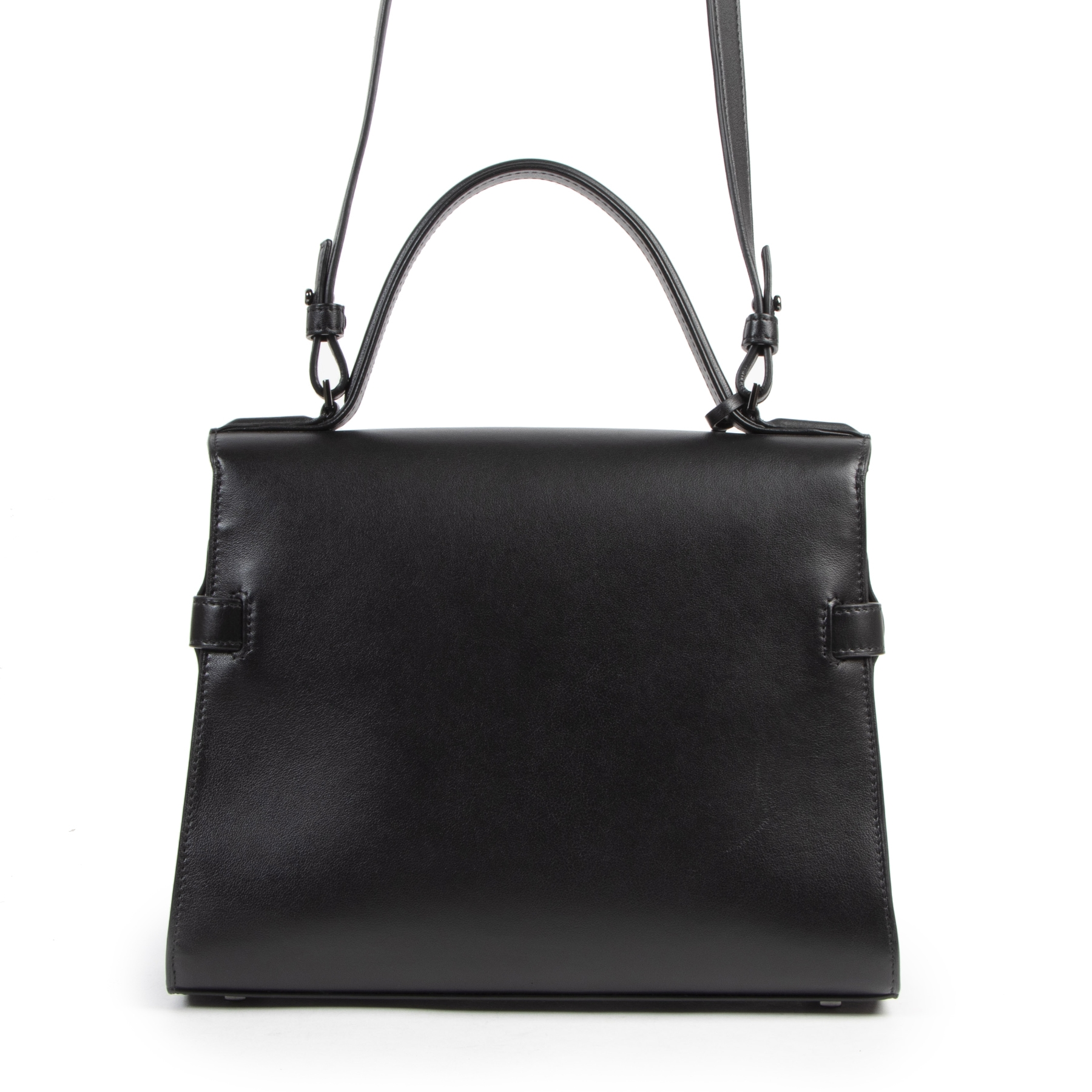 Are you looking for an authentic designer Delvaux All Black Tempête MM + Strap