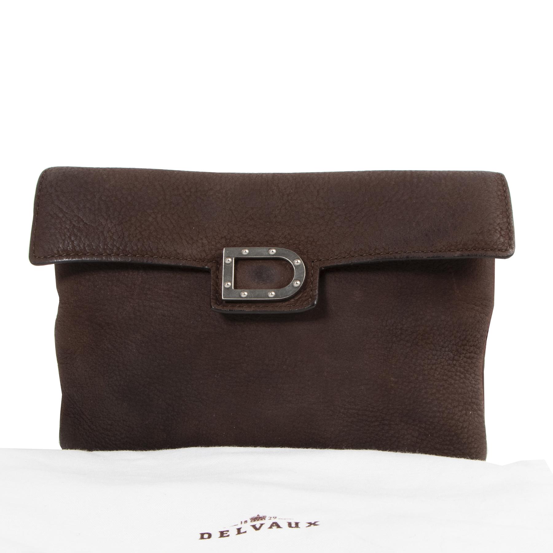 Delvaux Brown Nubuck Belt Bag