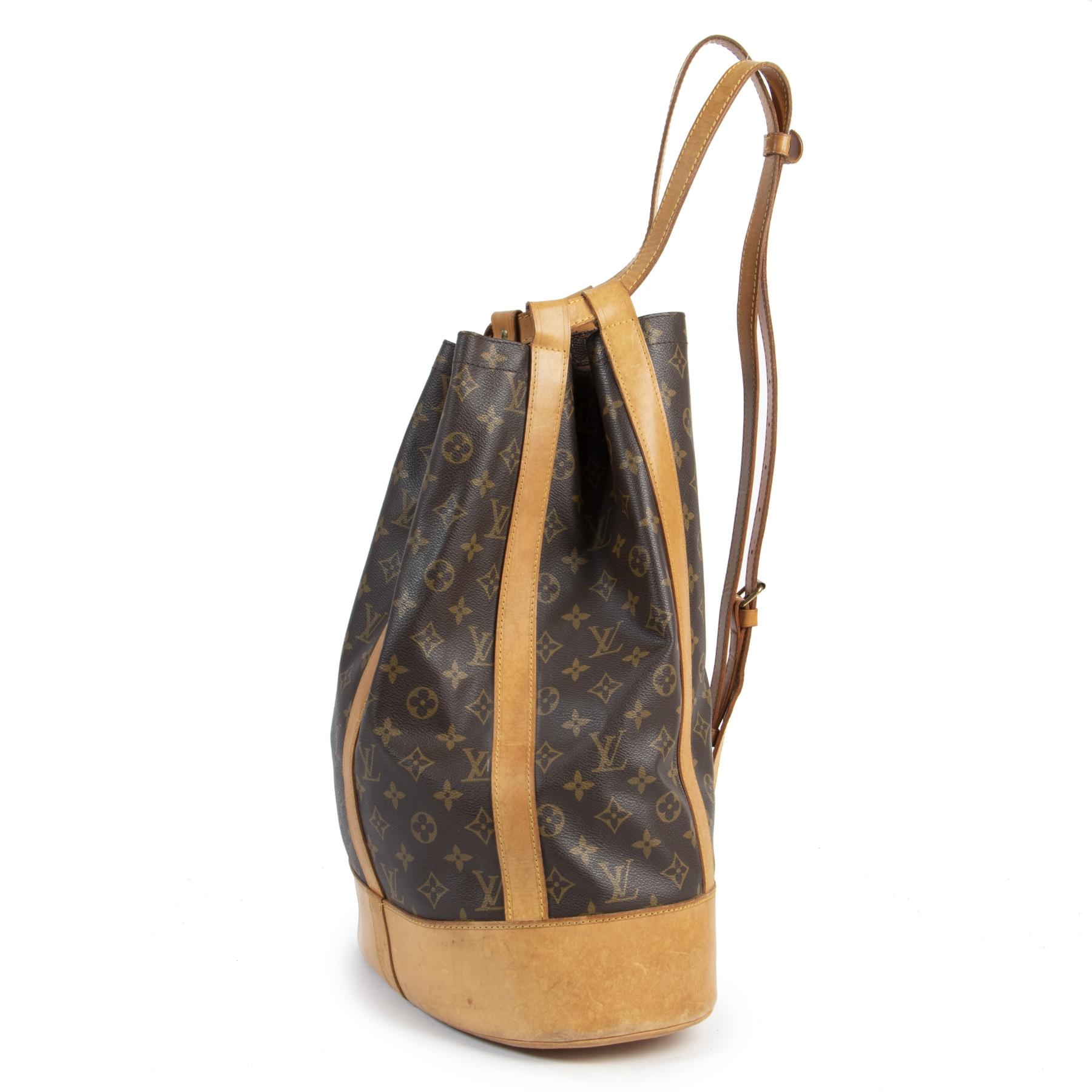 Authentieke Tweedehands Louis Vuitton Monogram Randonnee Bag juiste prijs veilig online shoppen luxe merken webshop winkelen Antwerpen België mode fashion
