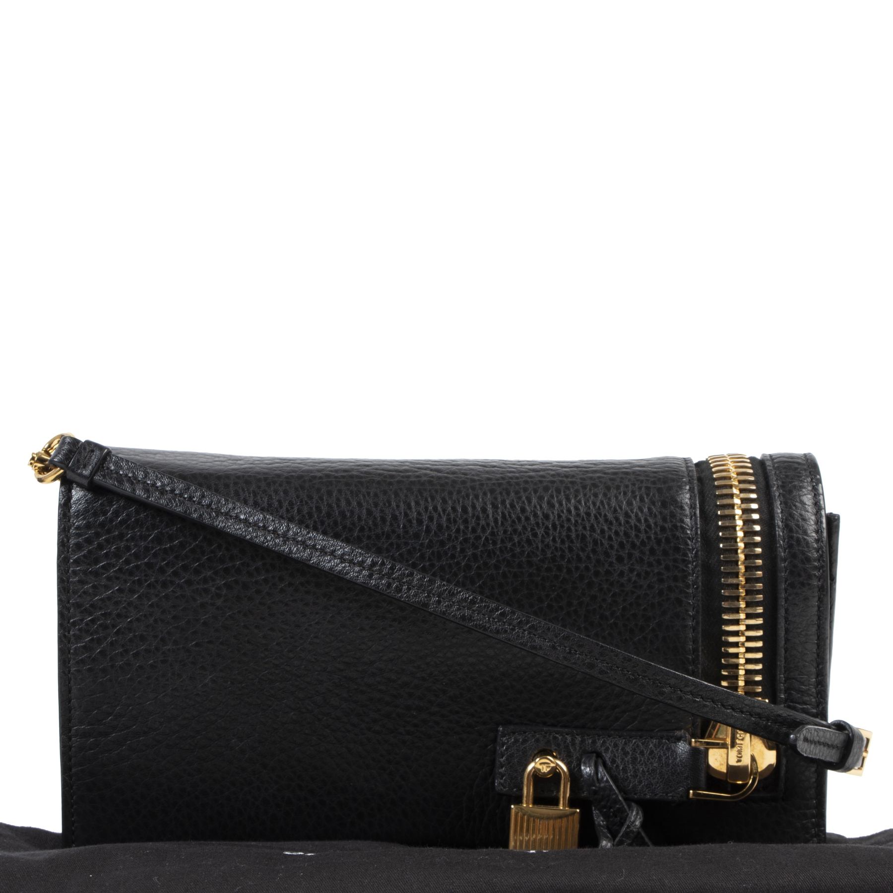 Authentic secondhand Tom Ford Small Alix Black Crossbody Bag designer bags fashion luxury vintage webshop safe secure online shopping