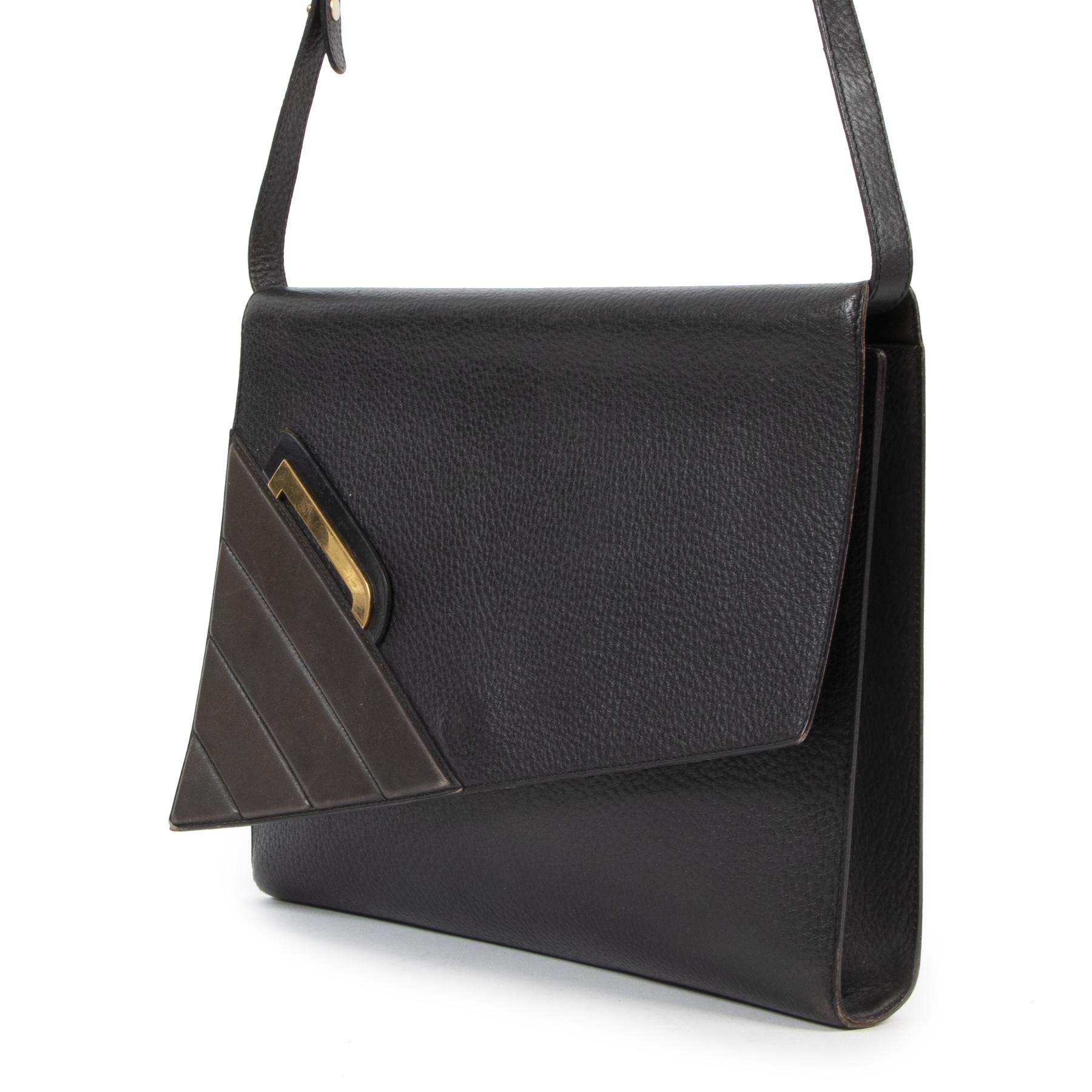 Delvaux Black and Blue Shoulder Bag pour le meilleur prix chez Labellov à Anvers Belgique