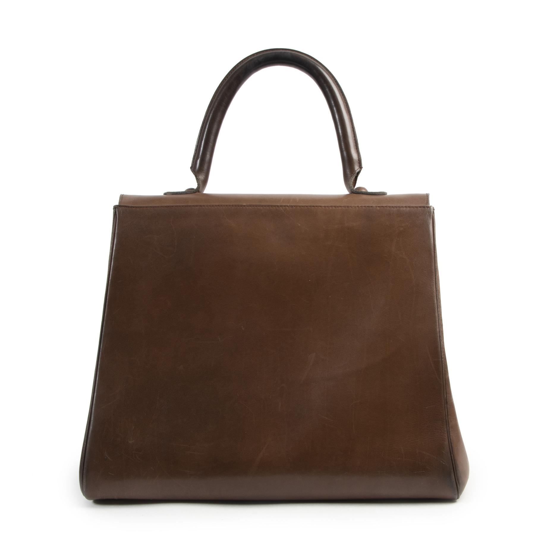 koop veilig online Delvaux Chestnut Brown Boxcalf Brillant Gm