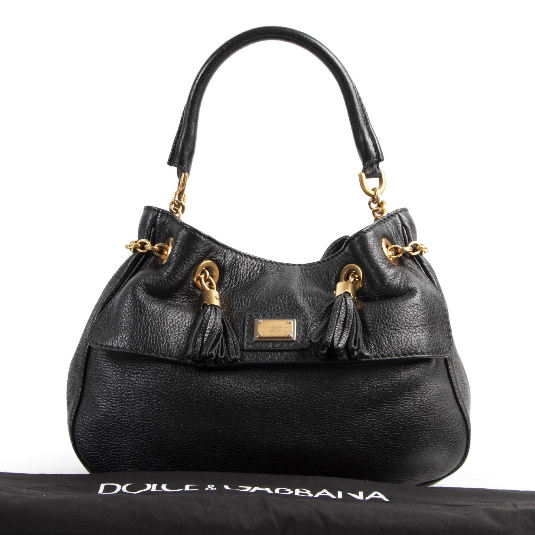 Authentic secondhand Dolce & Gabbana Black Shoulder Bag designer bags fashion luxury vintage webshop safe secure online shopping