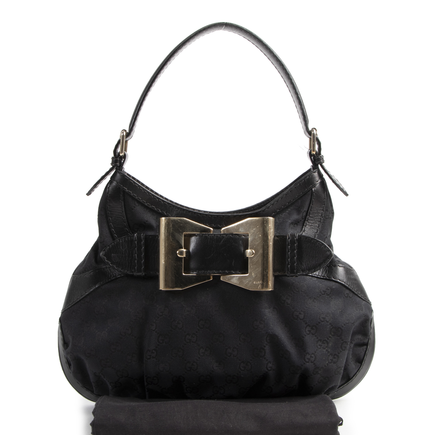 Authentic secondhand Gucci Black Queen Hobo Shoulder Bag designer bags fashion luxury vintage webshop safe secure online shopping
