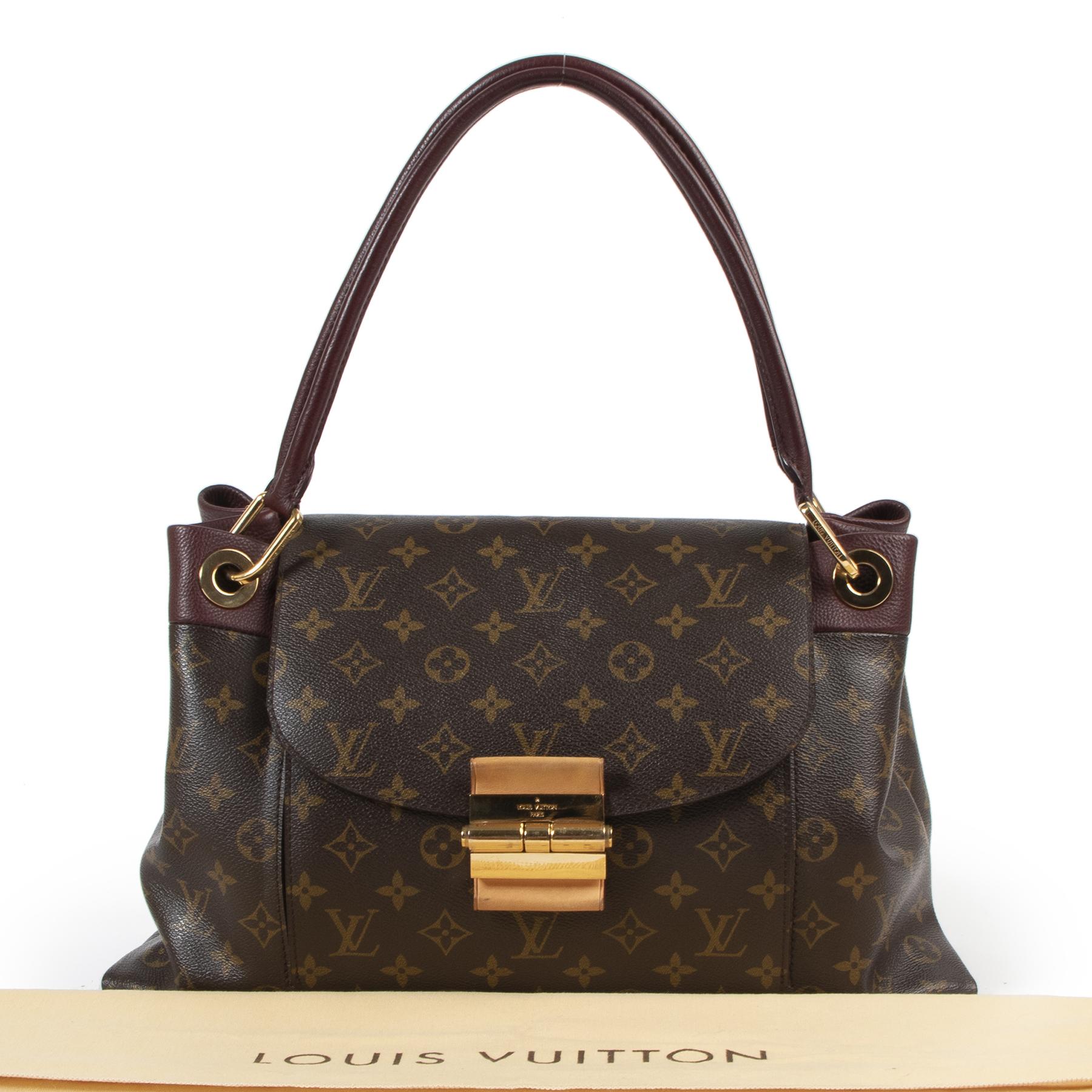 Louis Vuitton Burgundy Monogram Canvas Olympe Handbag te koop aan de beste prijs