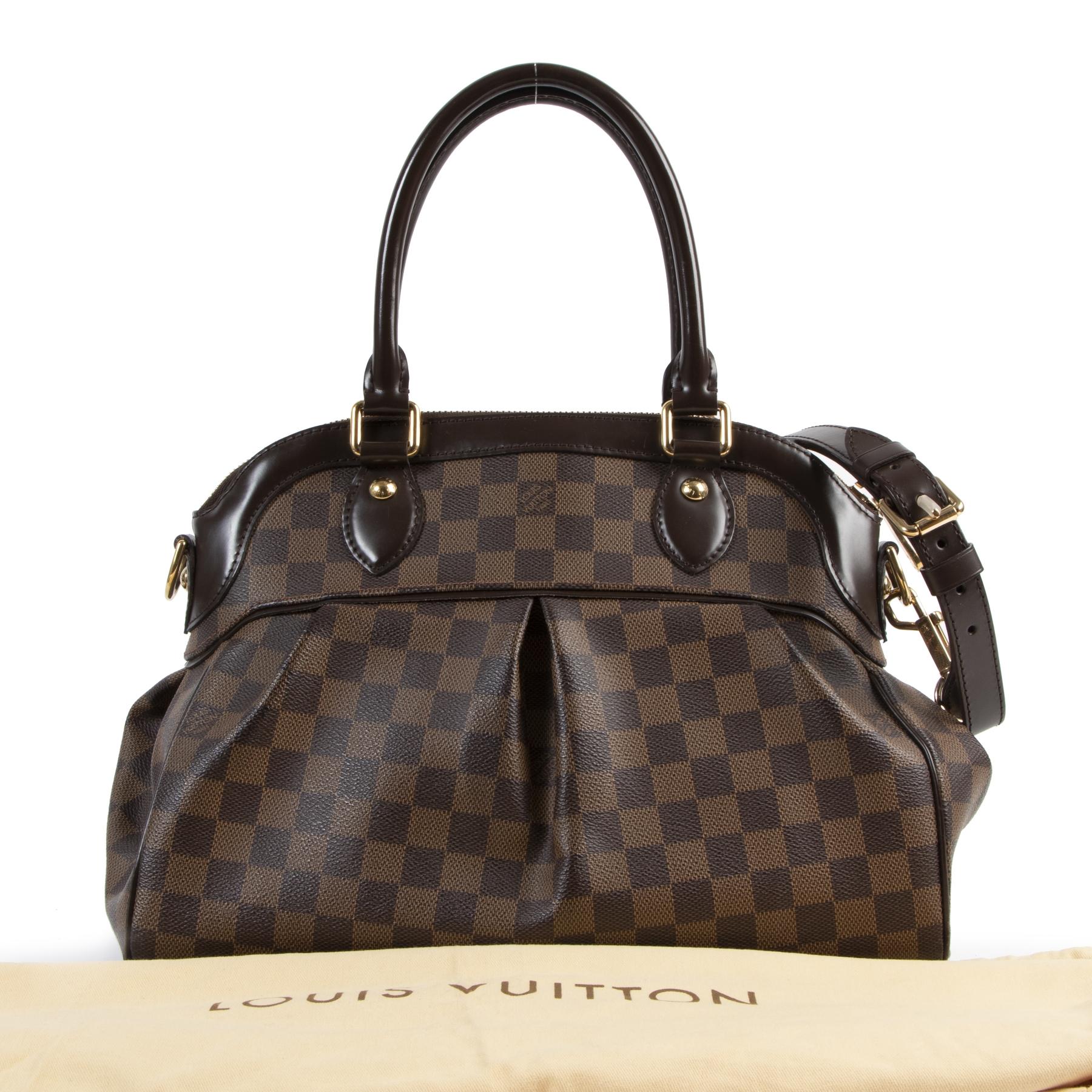 Authentic secondhand Louis Vuitton Damier Trevi Top Handle Bag designer bags fashion luxury vintage webshop safe secure online shopping