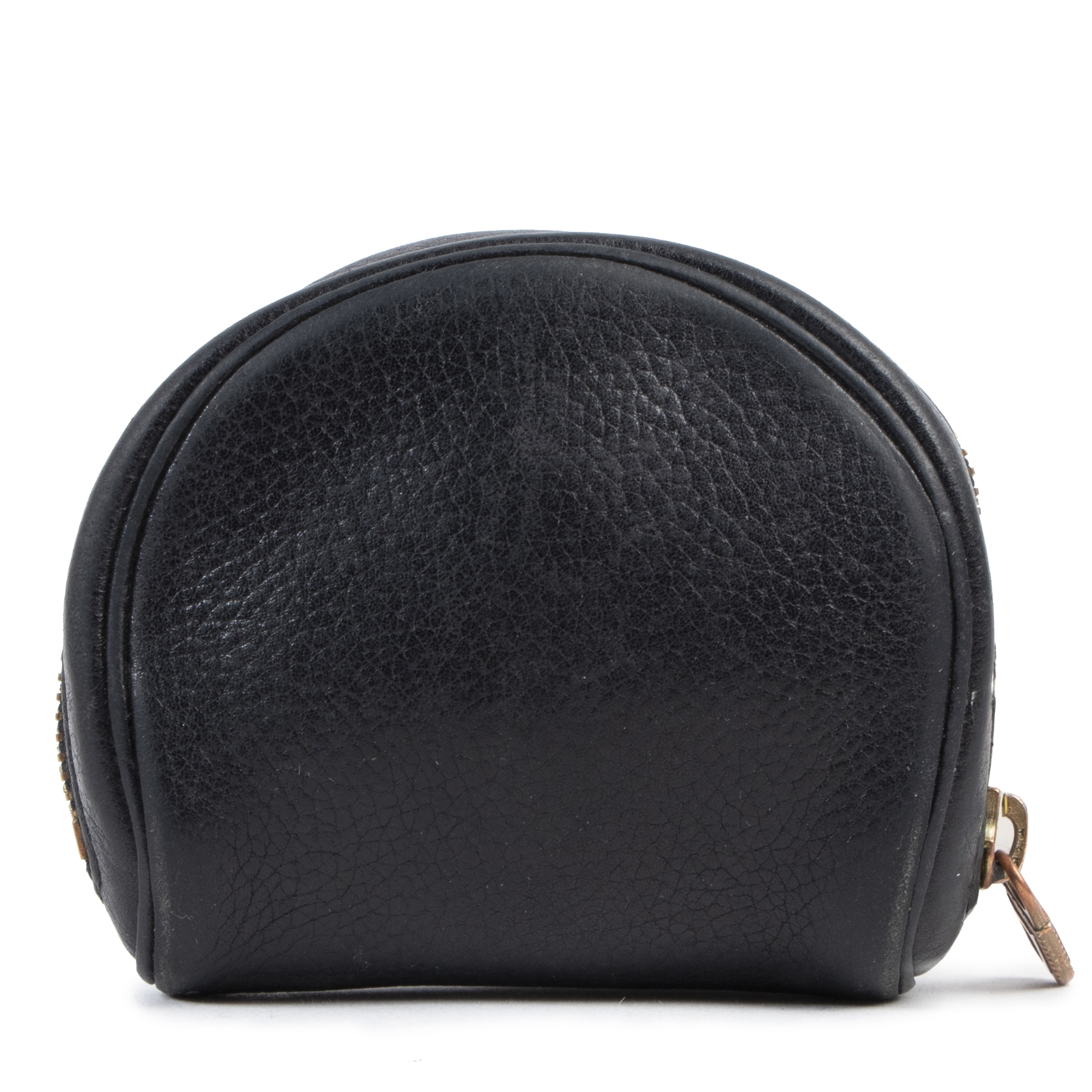 Delvaux Black Leather Coin Purse