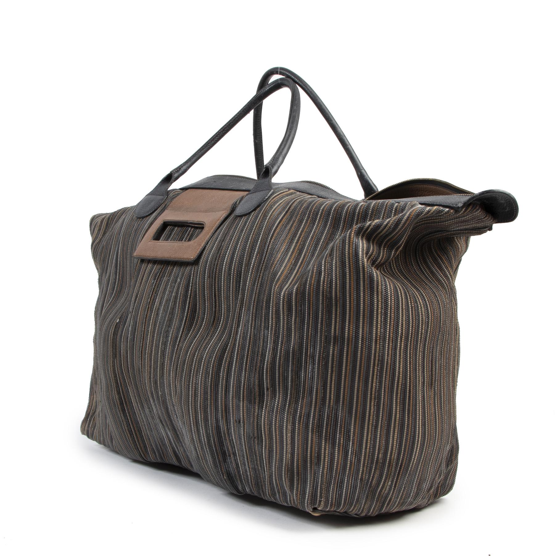 Authentieke Tweedehands Delvaux Toile de Cuir Travel Bag juiste prijs veilig online shoppen luxe merken webshop winkelen Antwerpen België mode fashion