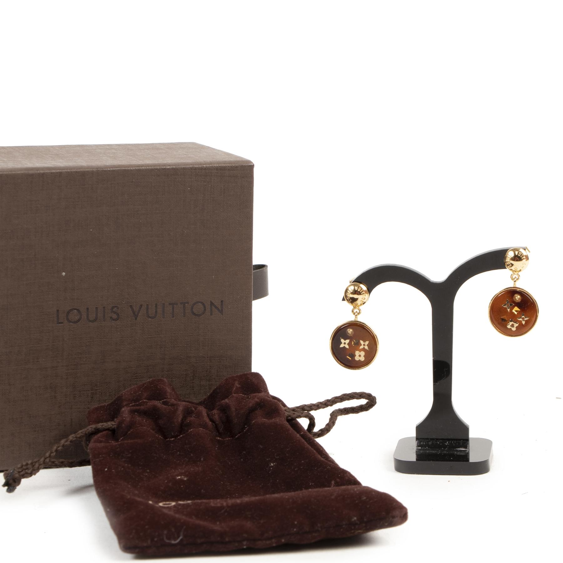 shop safe online Louis Vuitton Monogram Detailed Resin Earrings