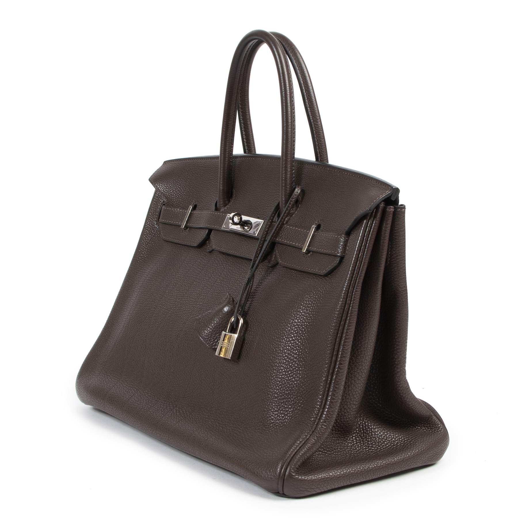 koop best online aan de beste prijs shop safe online at the best price Hermes Birkin Chocolat Togo 35cm