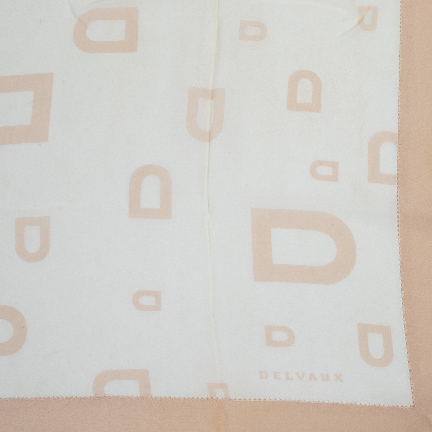 Delvaux Pink D Silk Scarf