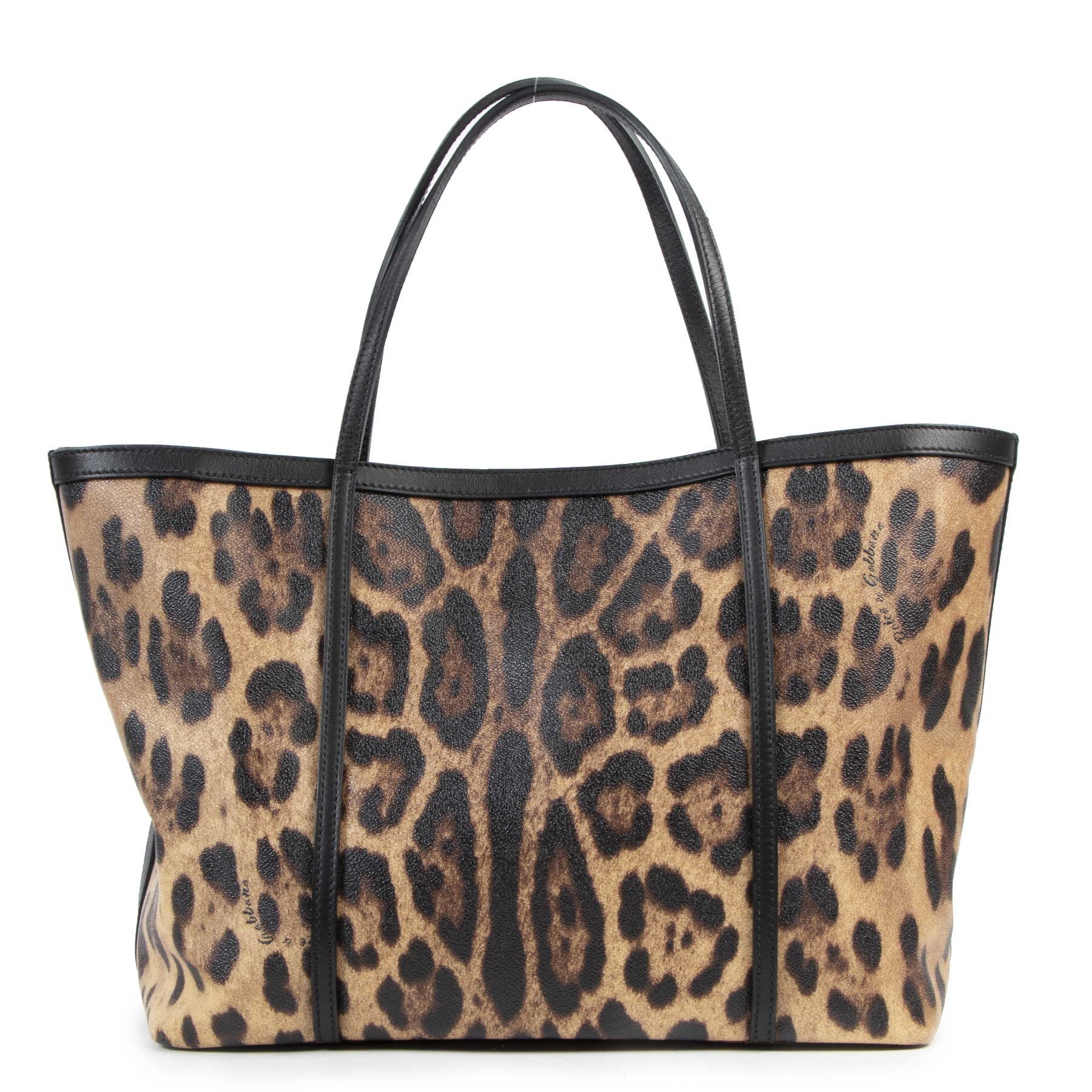 Authentic secondhand Dolce & Gabbana Leopard Tote Bag designer bags fashion luxury vintage webshop safe secure online shopping