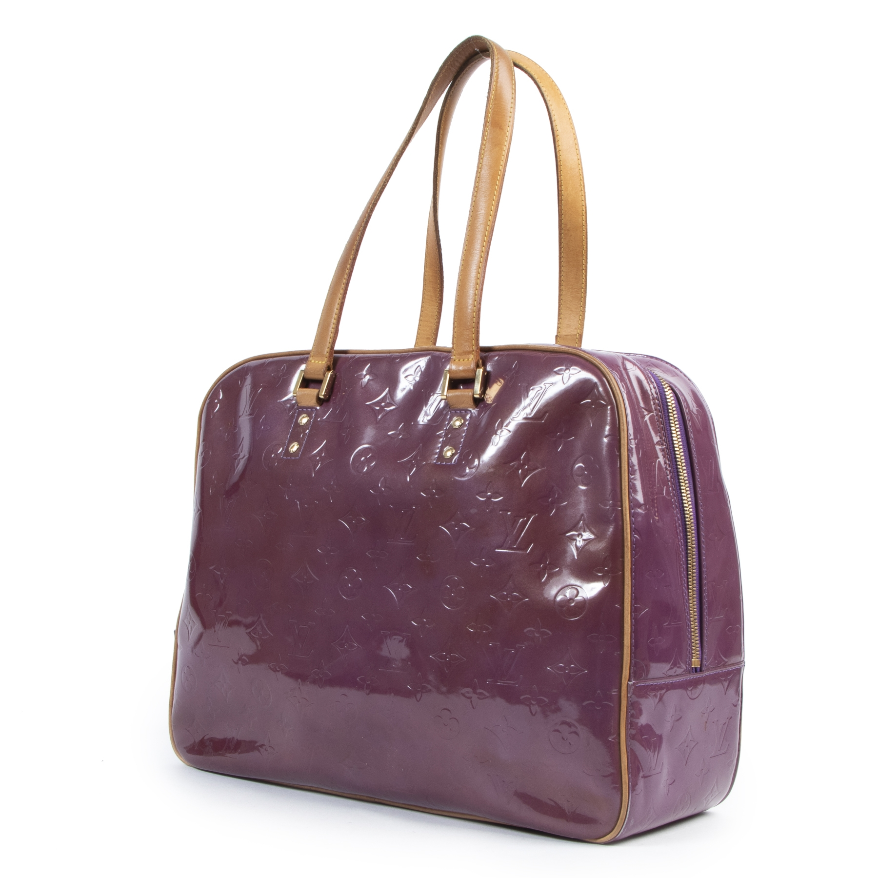 Louis Vuitton Purple Vernis Sutton Bag