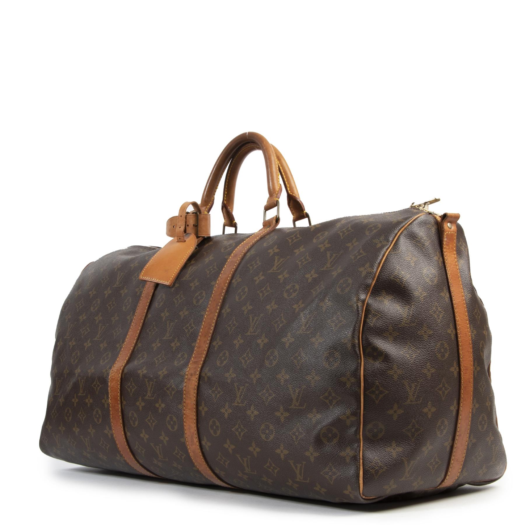acheter en ligne seconde main Louis Vuitton Vintage Monogram Keepall 60  Travel Bag