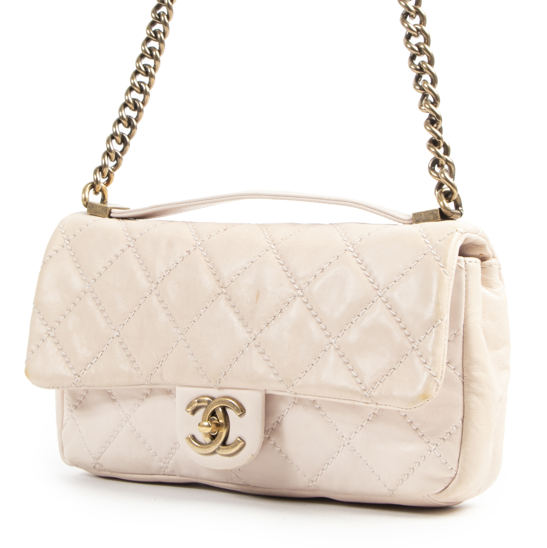shop safe online Chanel Dusty Pink Crossbody Flap Bag