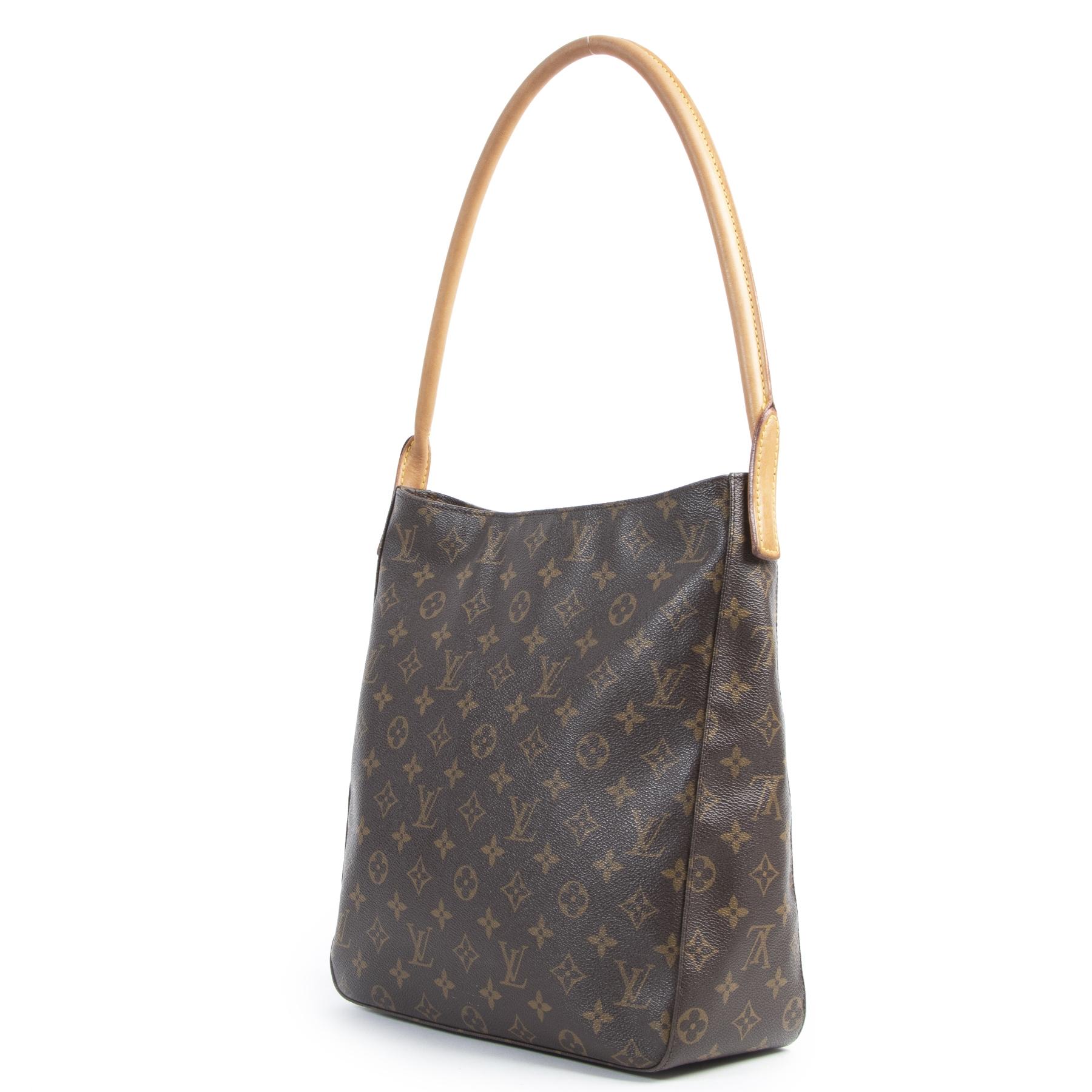 Authentieke Tweedehands Louis Vuitton Monogram Looping GM Shoulder Bag juiste prijs veilig online shoppen luxe merken webshop winkelen Antwerpen België mode fashion