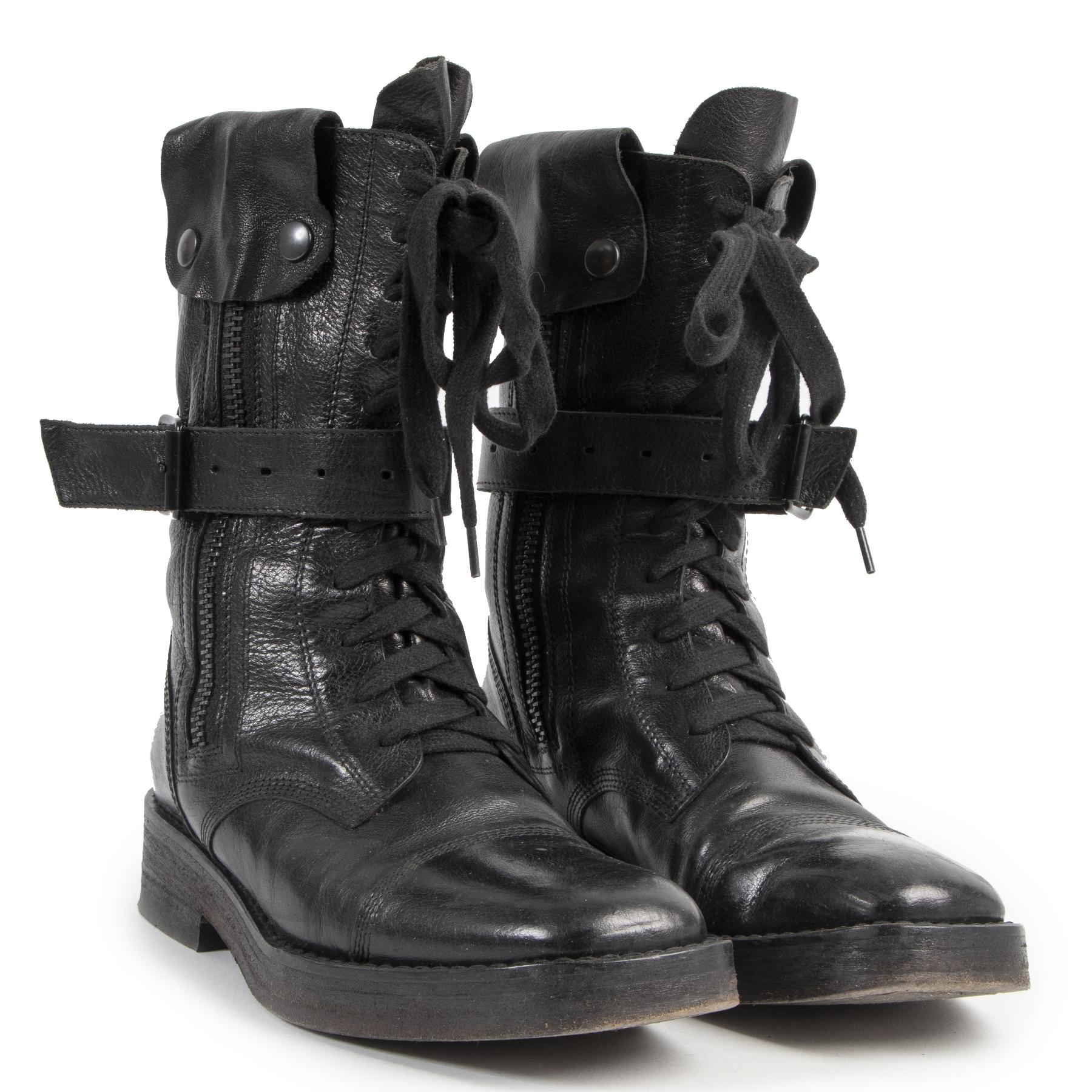 acheter en linge seconde main Ann De Meulemeester Biker Boots - size 36