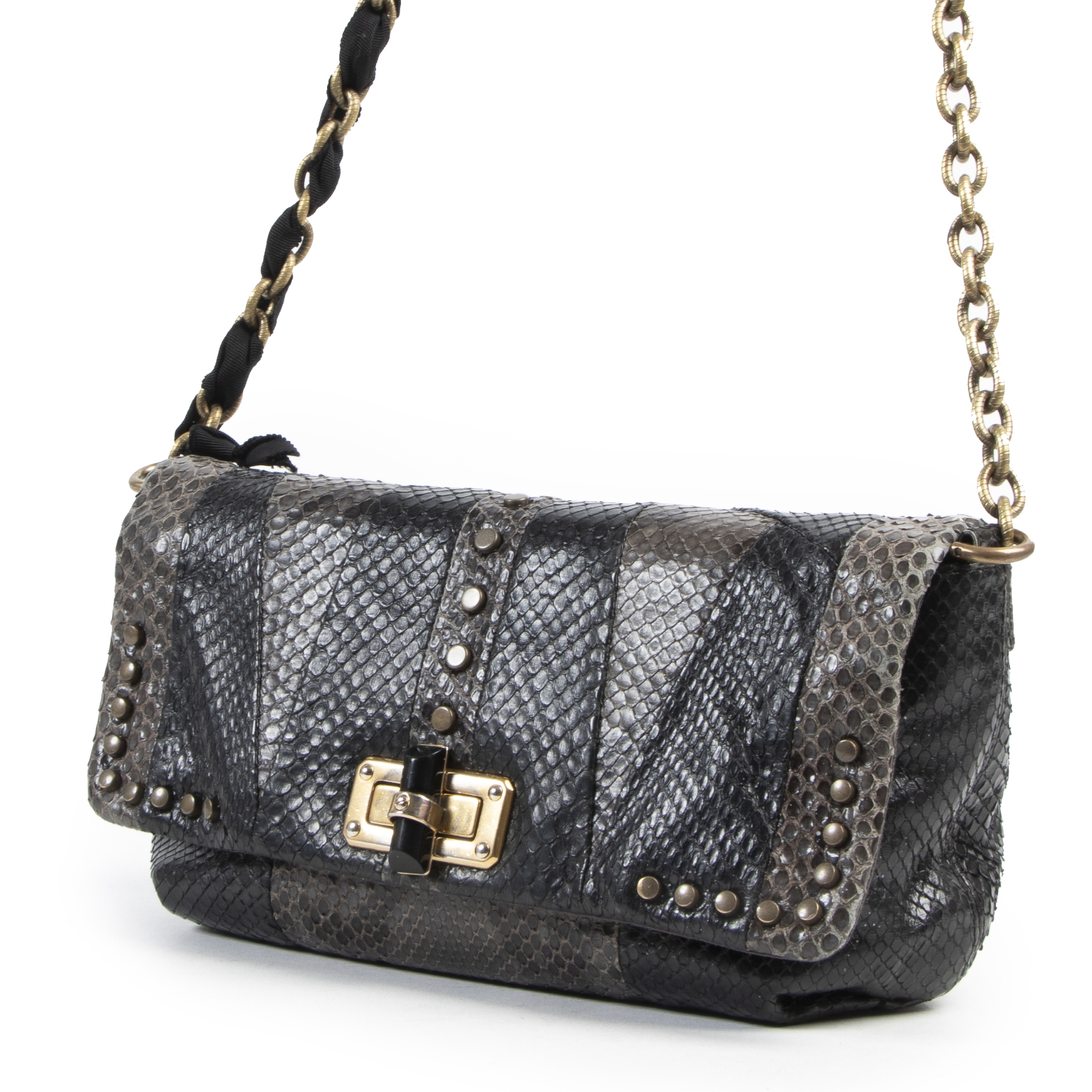 Lanvin Python Patchwork Happy Bag