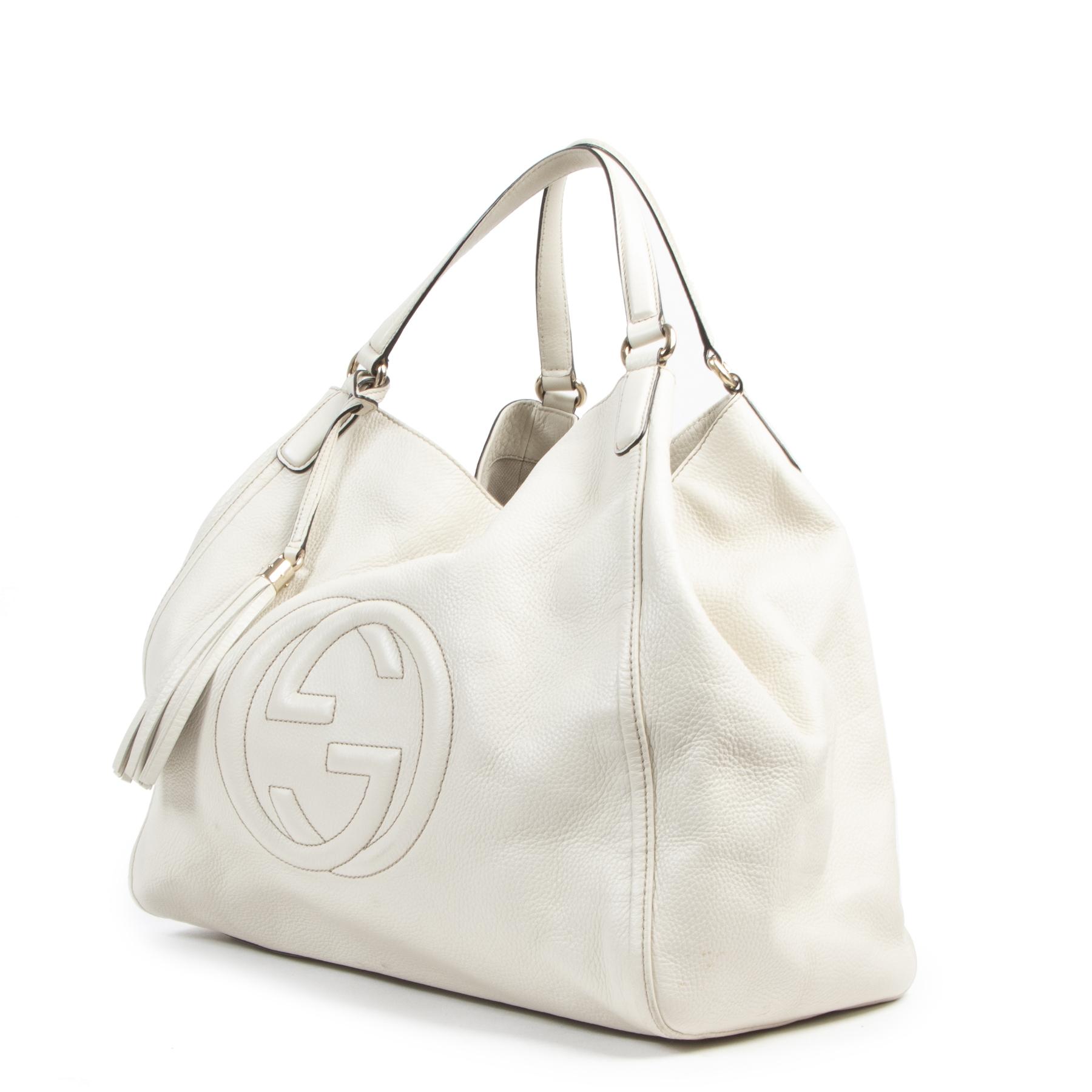 Gucci Soho Large Cream Shopper Bag pour le meilleur prix chez Labellov à Anvers Belgique