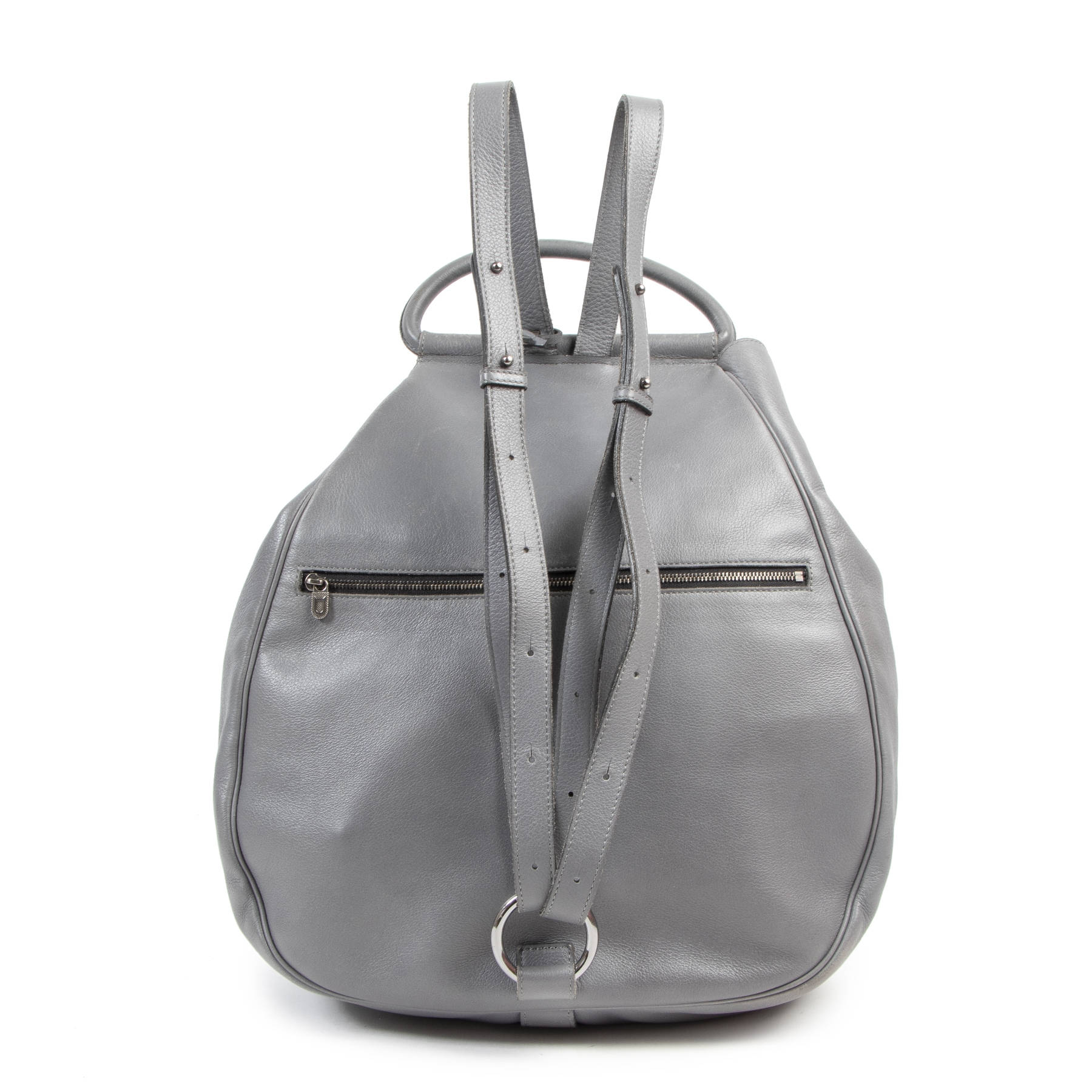 We buy and sell your authentic designer bags online Delvaux Grey Cerceau GM