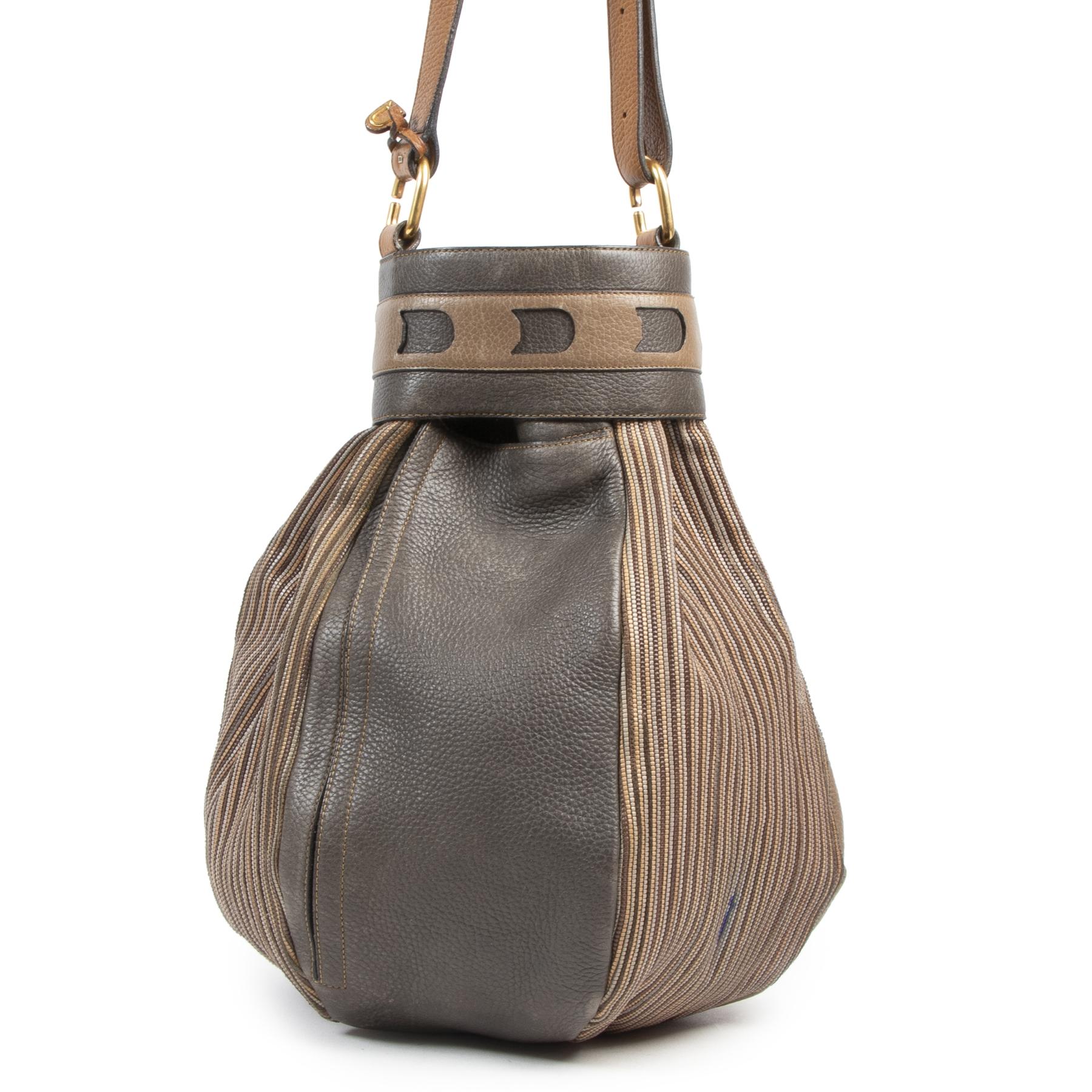 shop safe onlline  Delvaux Toile De Cuir Long Bucket Bag