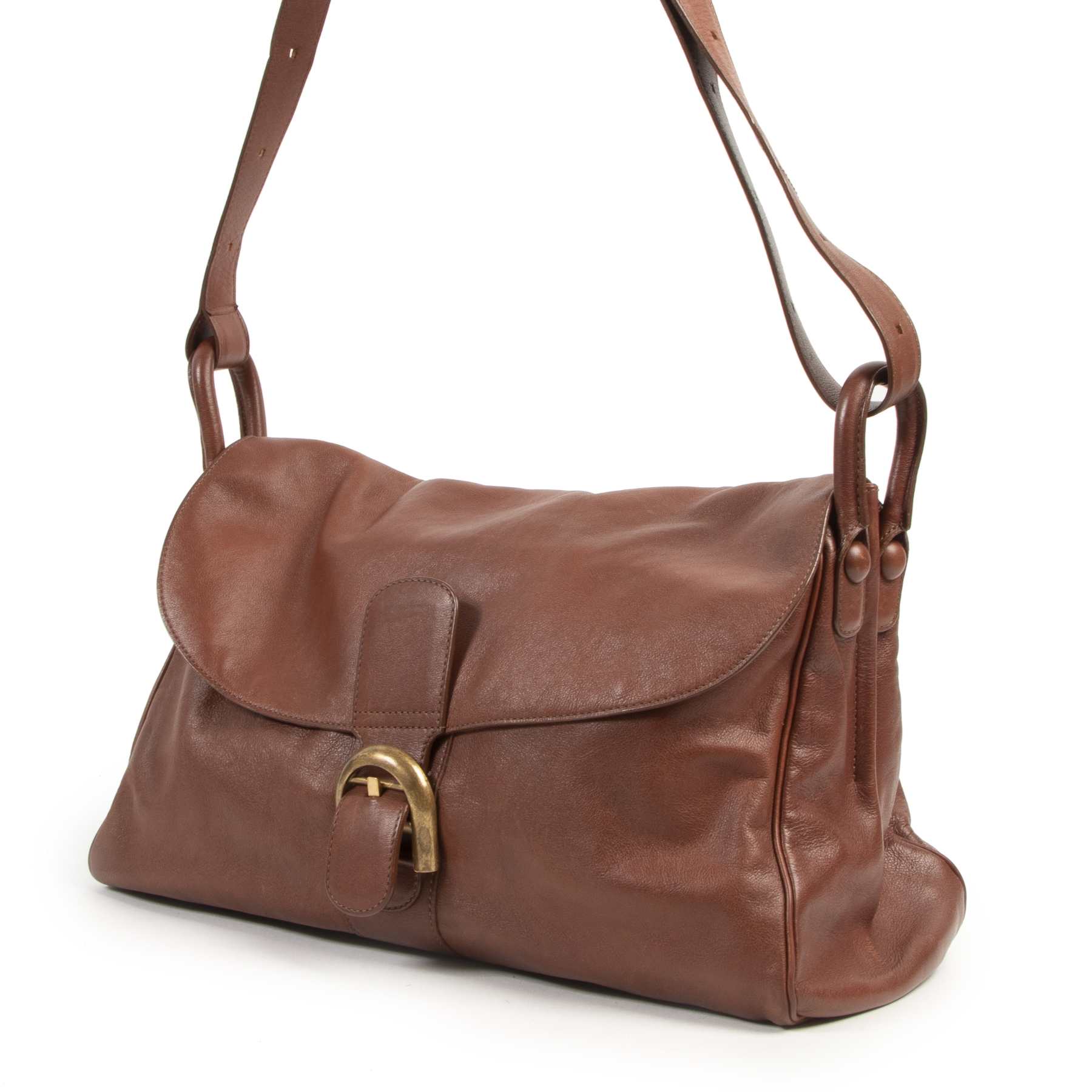 Delvaux Rust Leather Brillant Besace