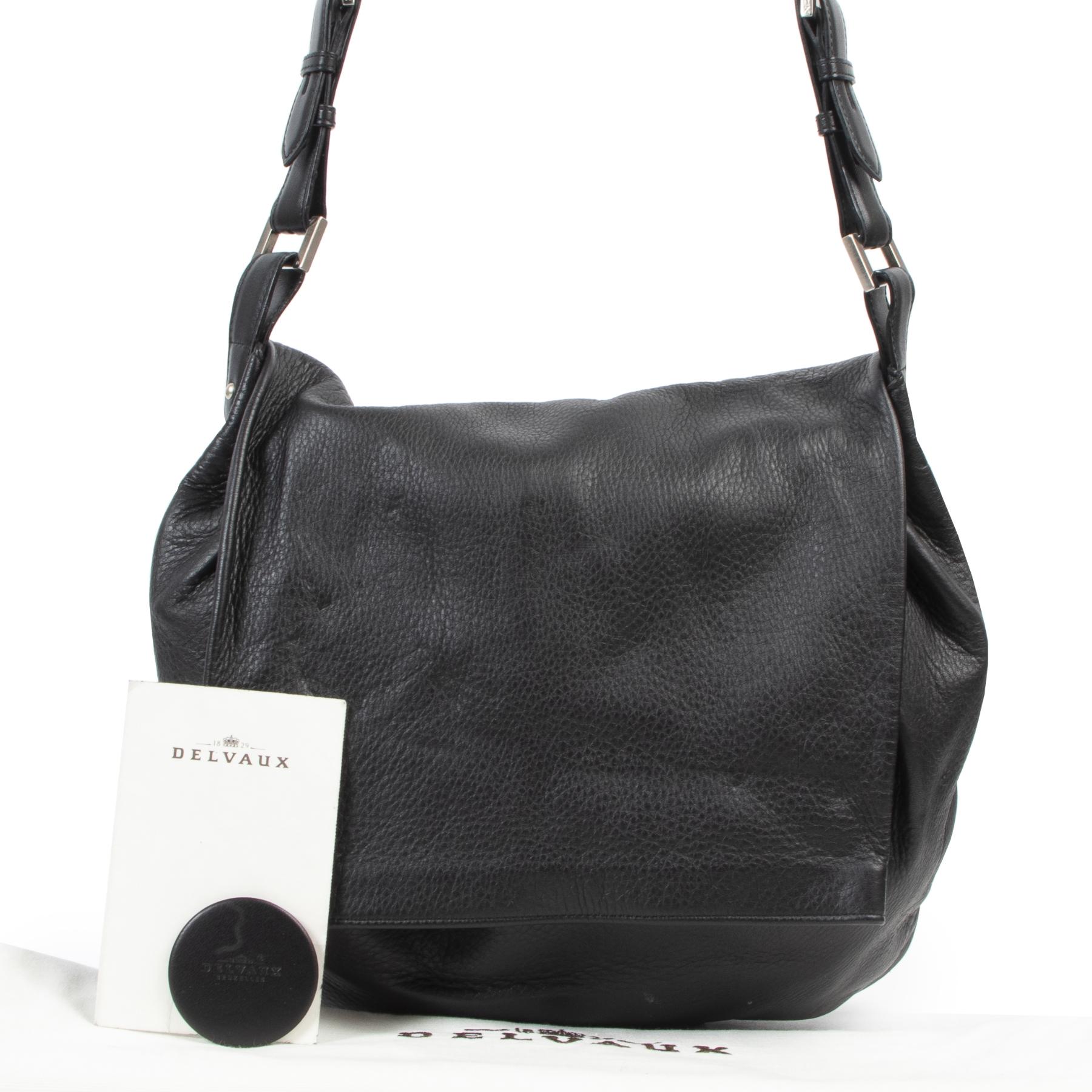 koop veilig online tegen de beste prijs Delvaux Black Le Léon Shoulder Bag