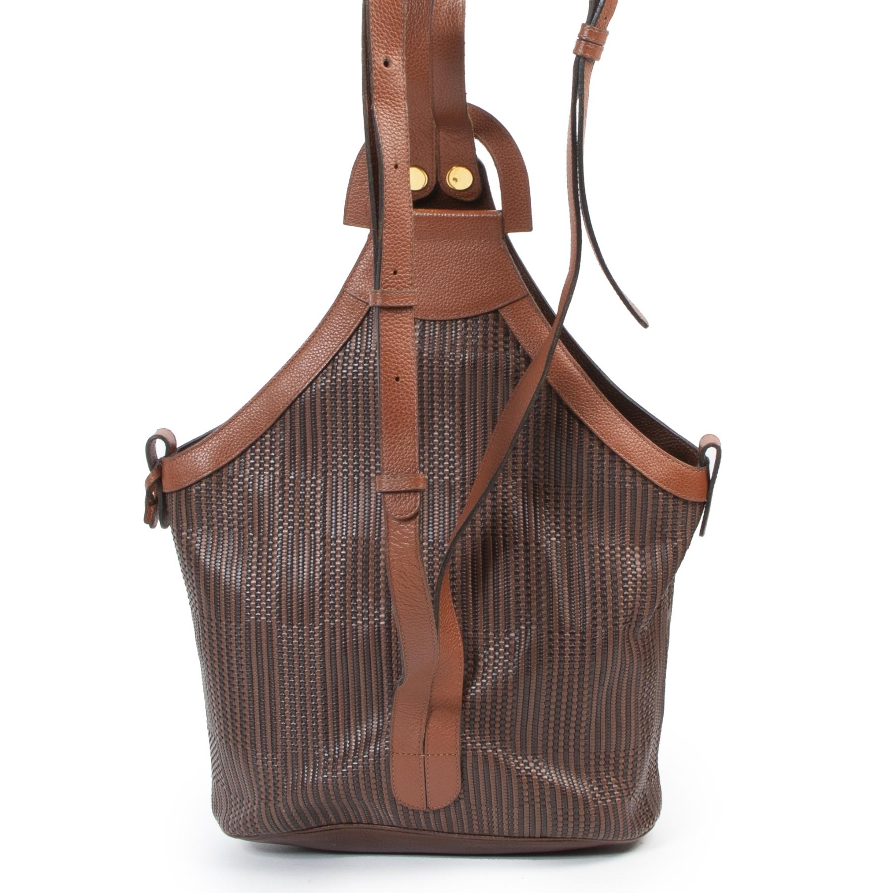 koop online tegen de beste prijs Delvaux Toile De Cuire Shoulder Bag