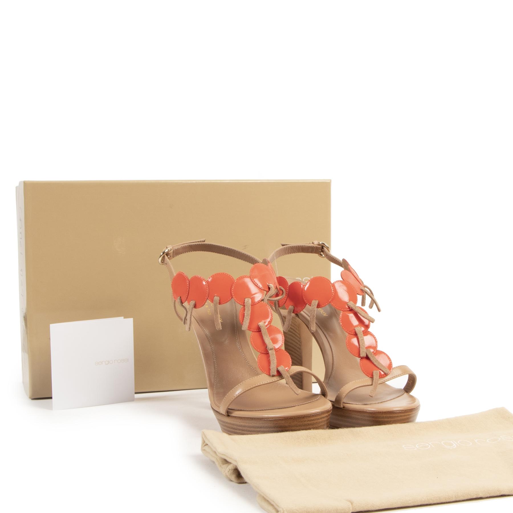 Koop uw authentieke designer Sergio Rossi Beige Heels