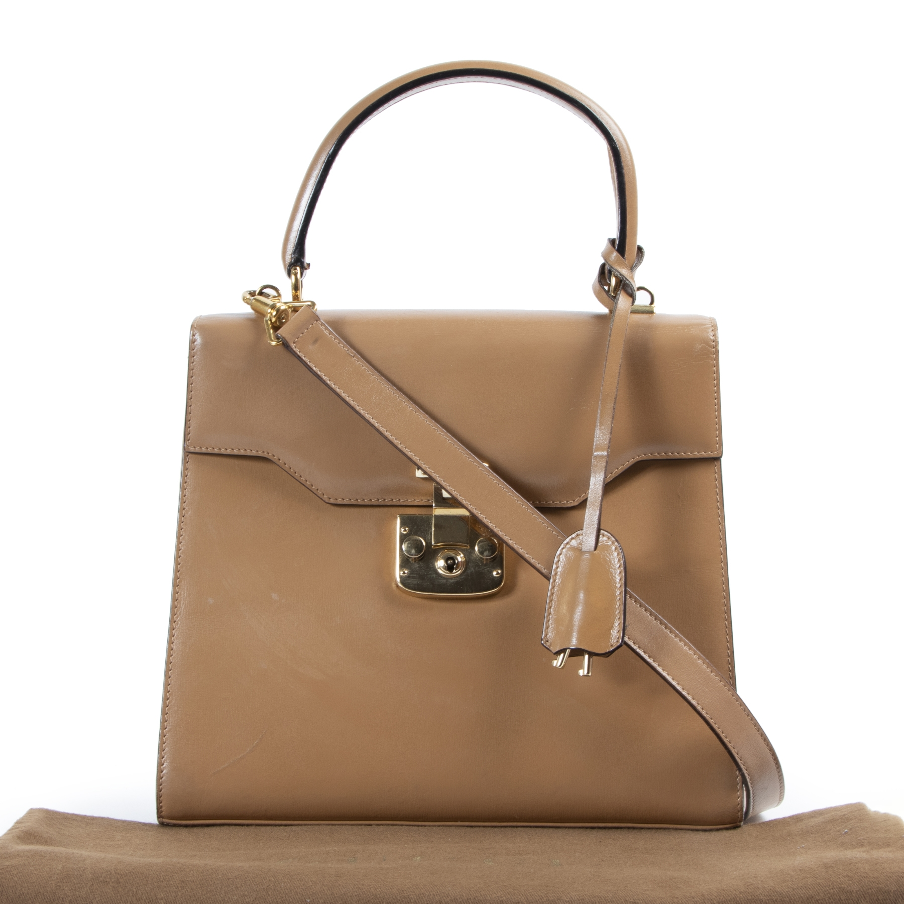 Gucci Brown Top Handle Bag
