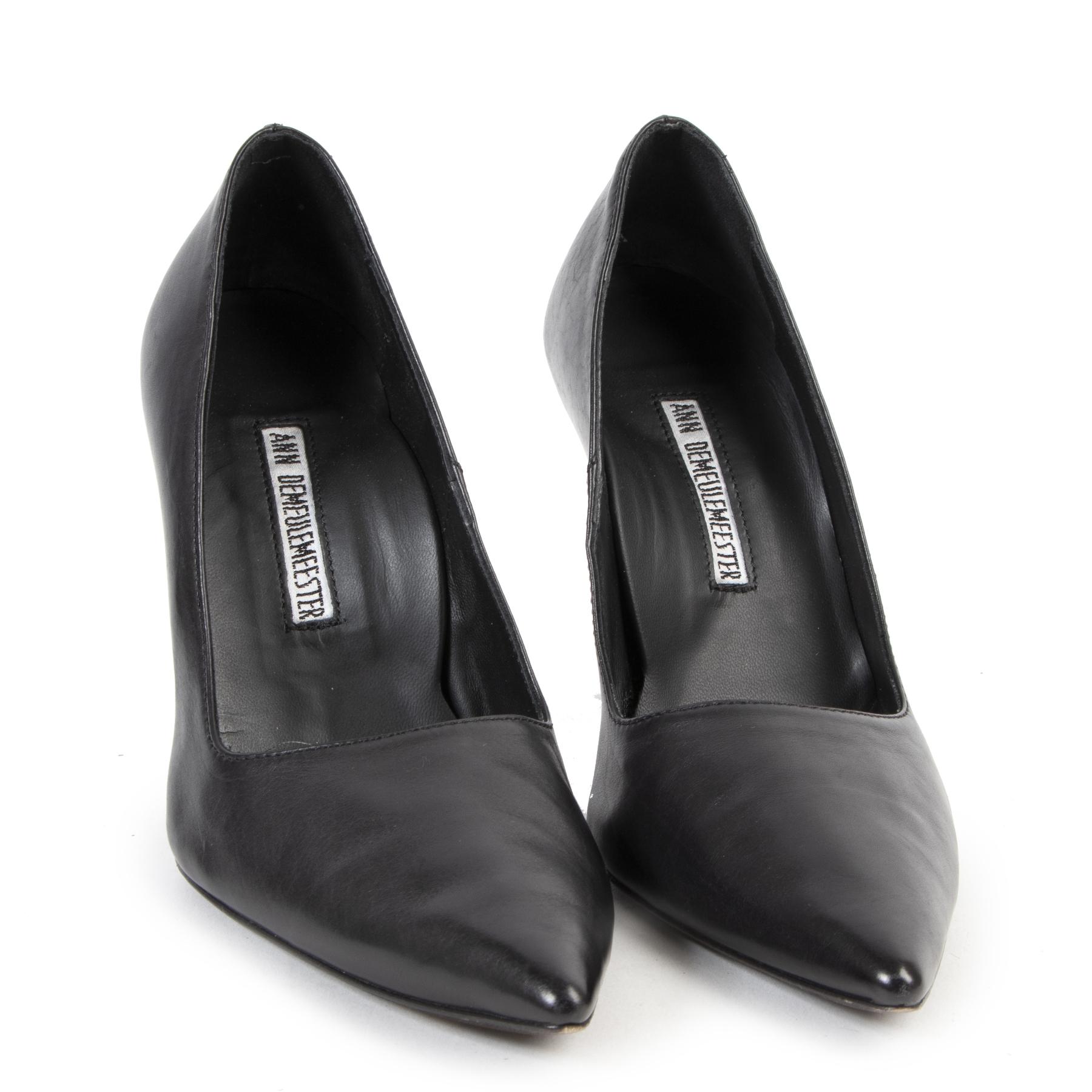 Ann Demeulemeester Black Leather Heels