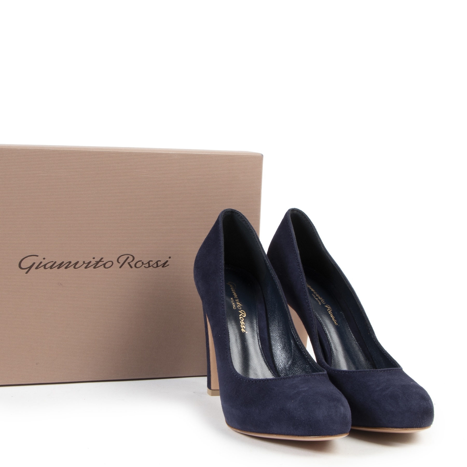 We buy and sell your Gianvito Rossi Navy Blue Heels - Size 36.5