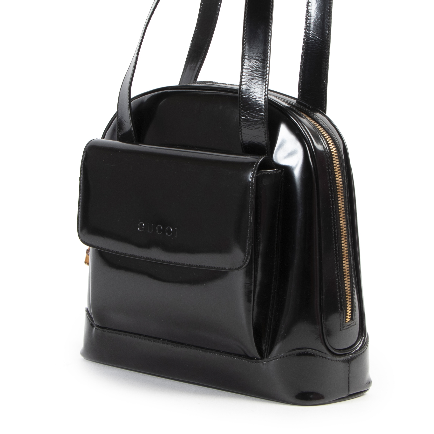 Gucci Vintage Patent Shoulder Bag