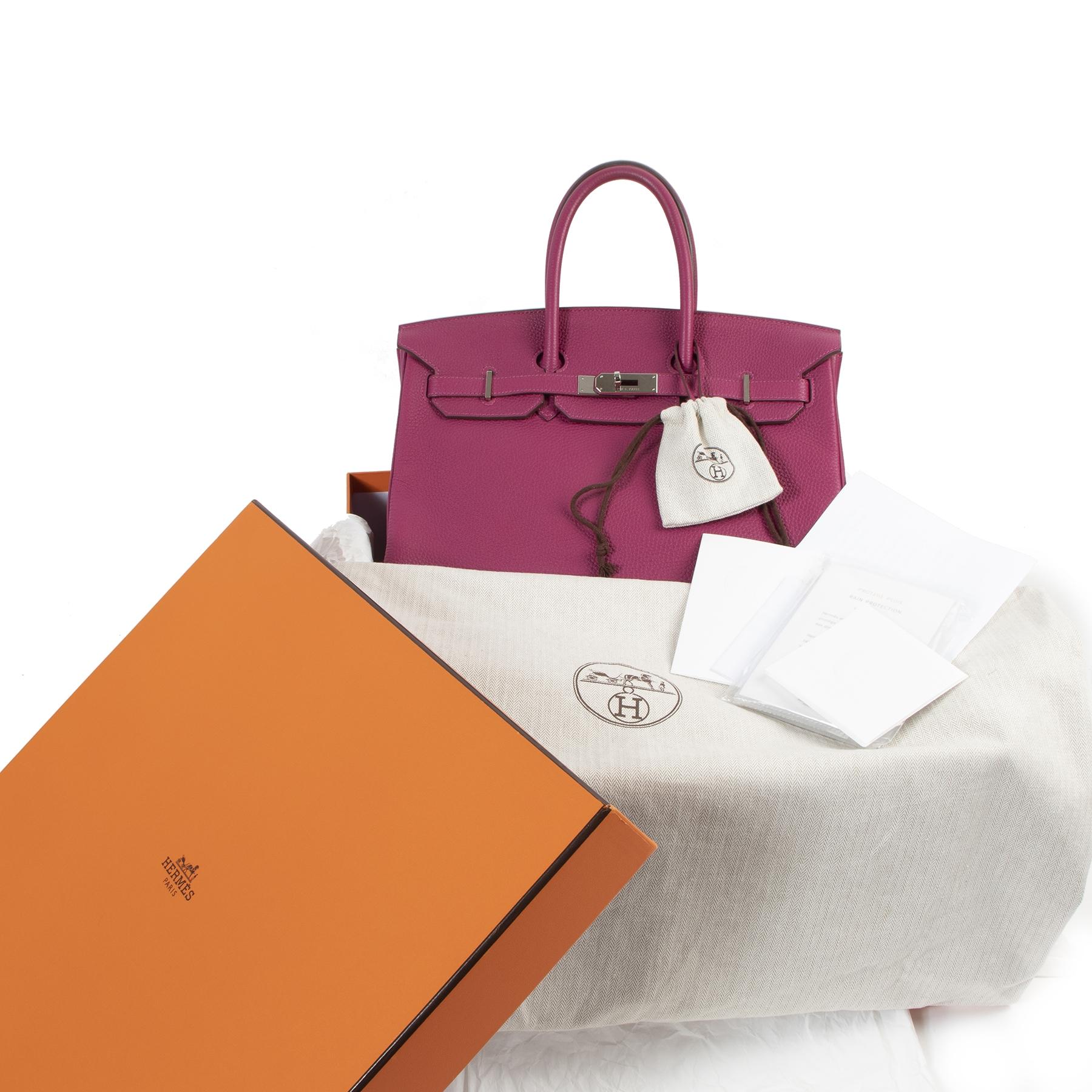 Hermès Birkin 35 Veau Togo Tosca PHW for sale at Labellov secondhand luxury. Kopen en verkopen aan de beste prijs.
